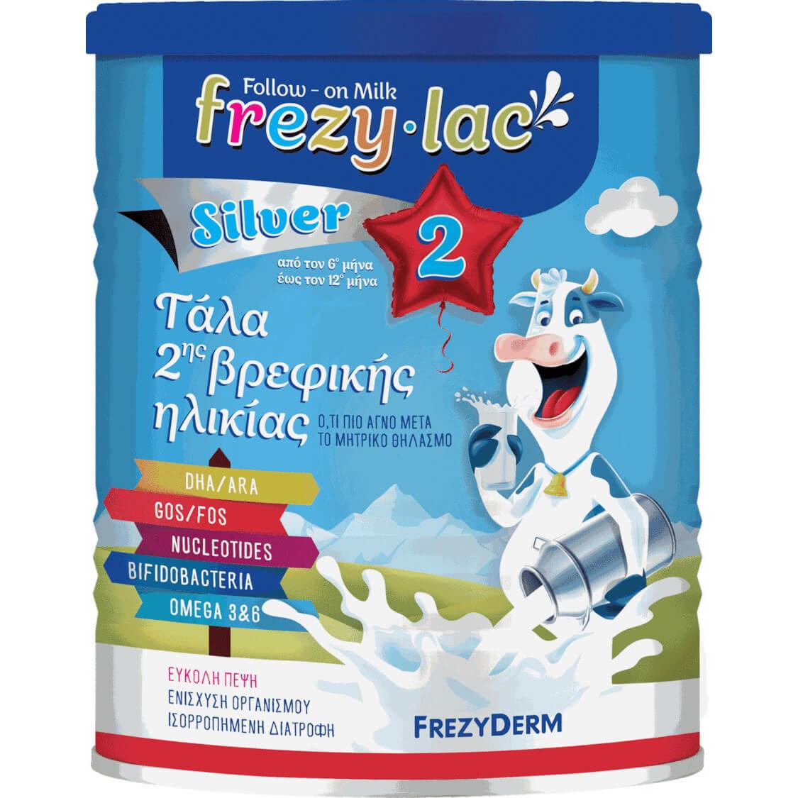 Frezyderm Frezylac Silver 2 Αγελαδινό Γάλα 2ης Βρεφικής Ηλικίας από τον 6ο Έως τον 12ο Μήνα 400gr