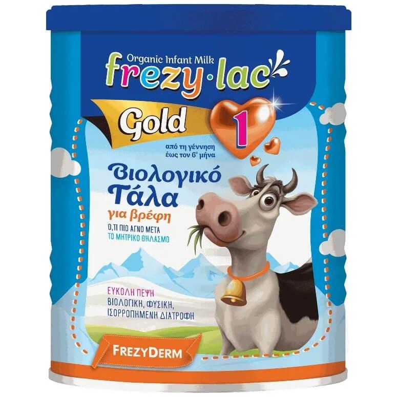 Frezyderm Frezylac Gold 1 Αγελαδινό Βιολογικό Γάλα 1ης Βρεφικής Ηλικίας από την Γέννηση Έως τον 6ο Μήνα 400gr