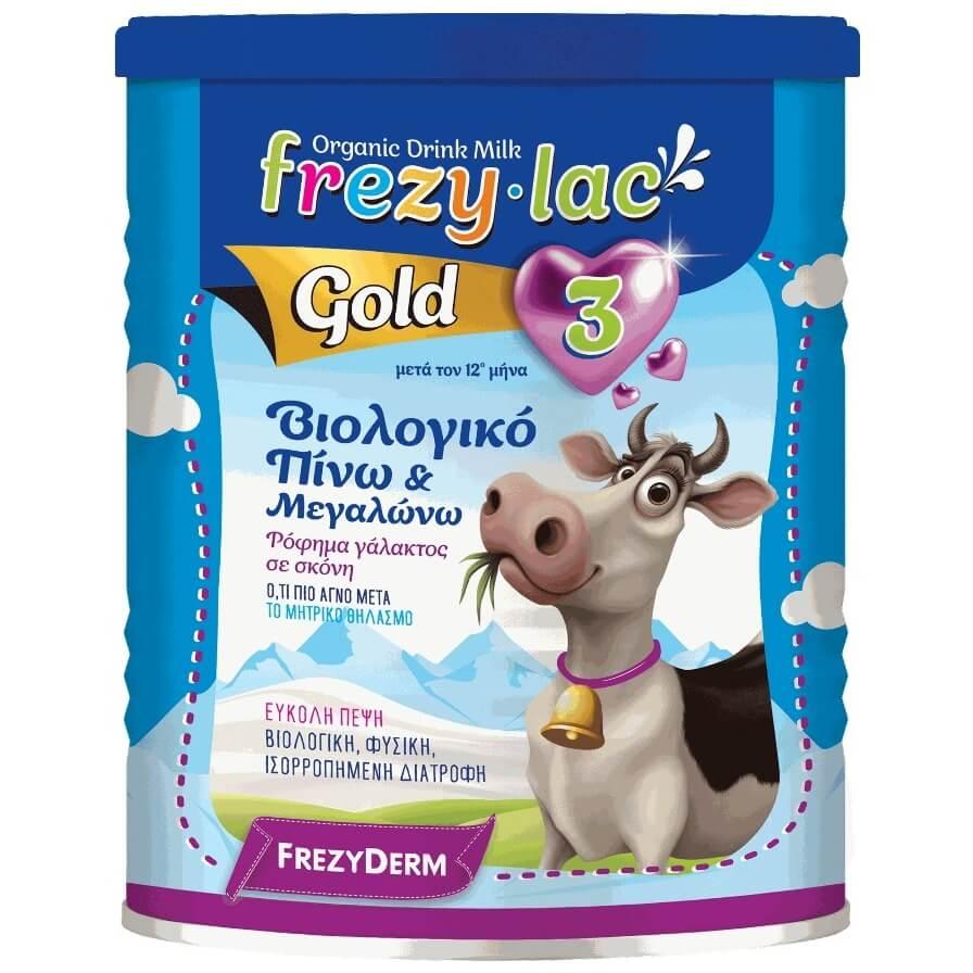 Frezyderm Frezylac Gold 2 Αγελαδινό Βιολογικό Γάλα 3ης Ηλικίας από τον 12ο Μήνα 400gr