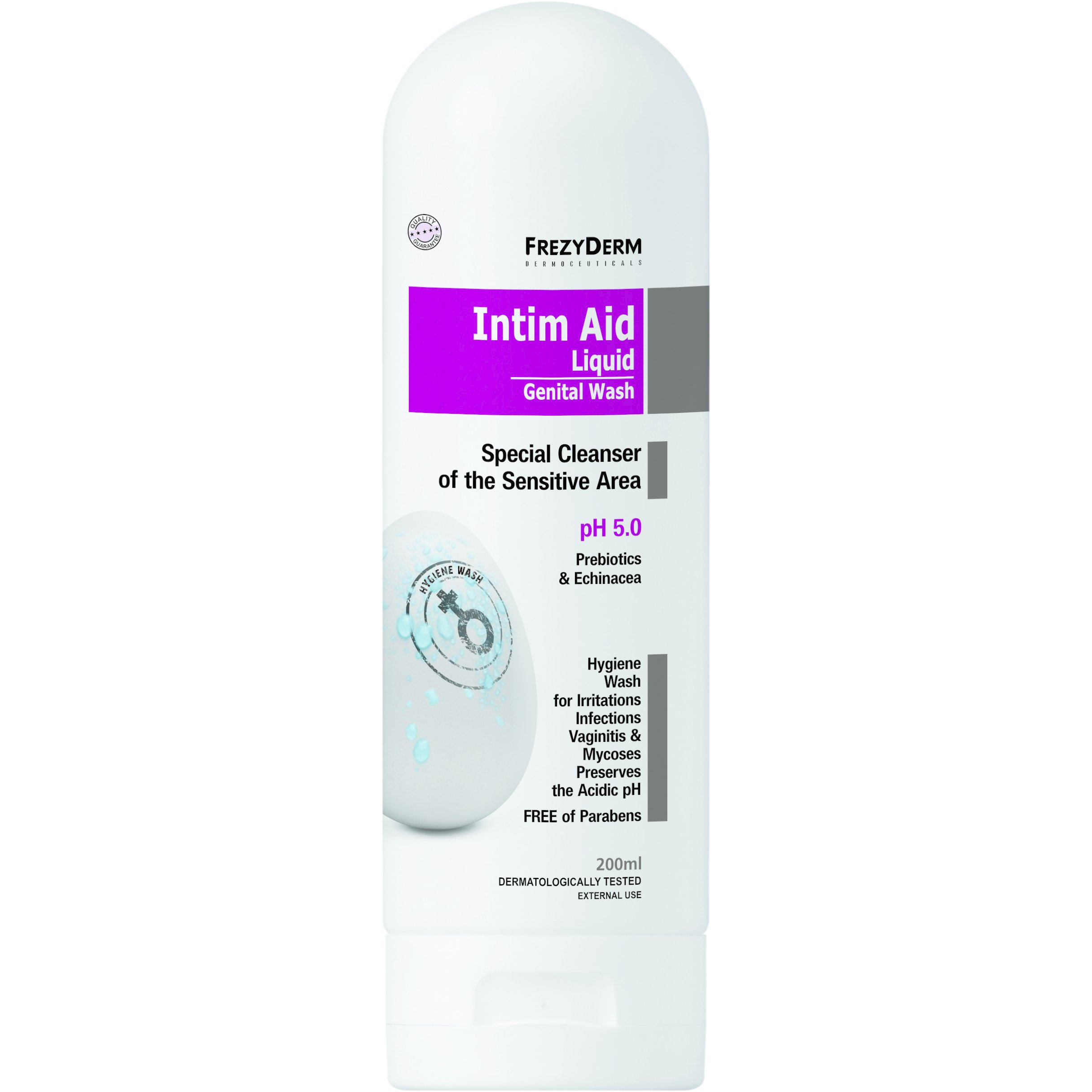 Frezyderm Intim Aid p.H5.0 Εξειδικευμένο Καθαριστικό της Ευαίσθητης Περιοχής 200ml