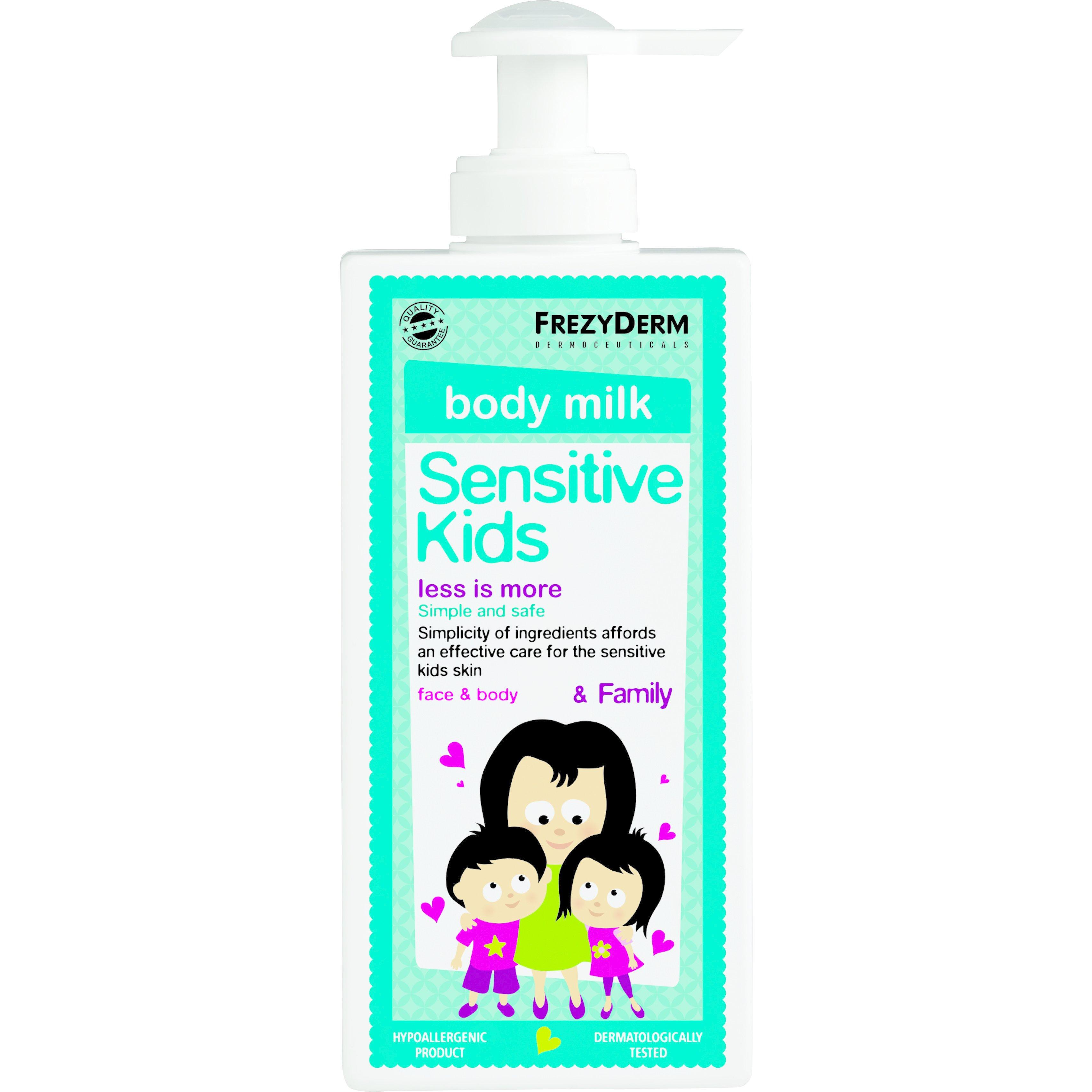 Frezyderm Sensitive Kids Face & Body Milk Απαλό Ενυδατικό Γαλάκτωμα για την Παιδική Επιδερμίδα 200ml