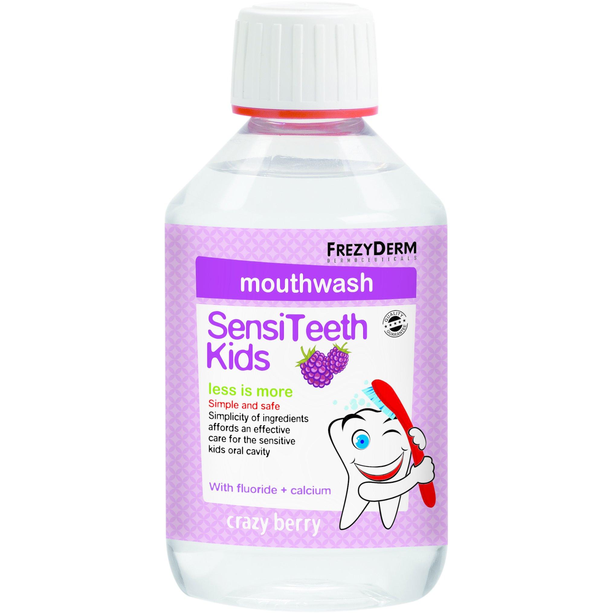 Frezyderm SensiTeeth Kids Mouthwash Στοματικό Διάλυμα Κατά της Τερηδόνας για Παιδιά από 3 Ετών με Φθόριο 100ppm & Ασβέστιο 250ml