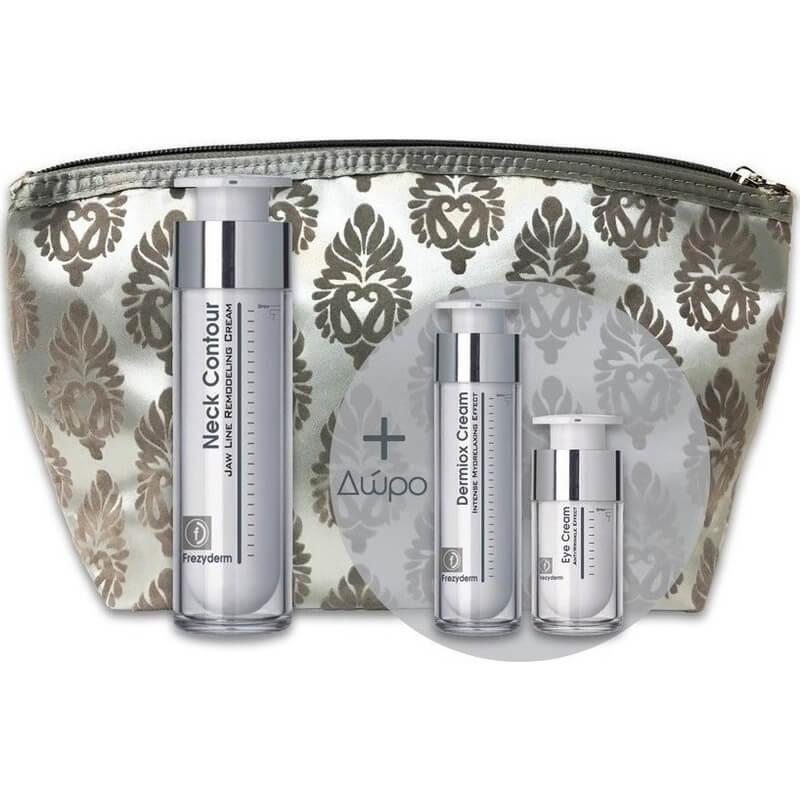 Frezyderm Πακέτο Προσφοράς Neck Contour Cream 50ml & Δώρο Dermiox Cream 15ml & Eye Cream 5ml & Νεσεσέρ