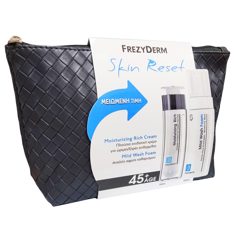 Frezyderm Πακέτο Προσφοράς Moisturizing Rich Cream 45+, 50ml & Mild Wash 150ml σε Ειδική Τιμή
