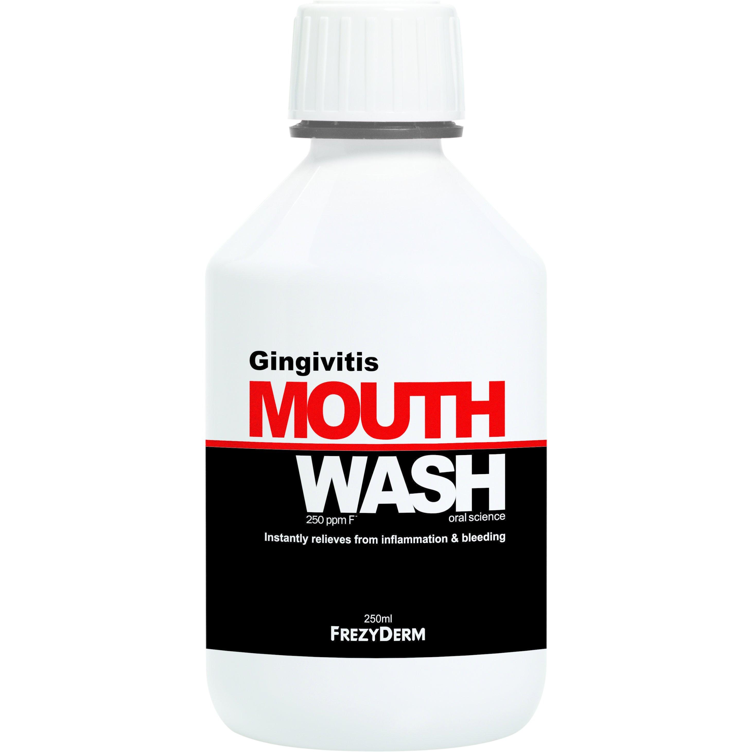 Frezyderm Gingivitis Mouthwash Φθοριούχο Στοματικό Διάλυμα Κατά της Ουλίτιδας 250ml