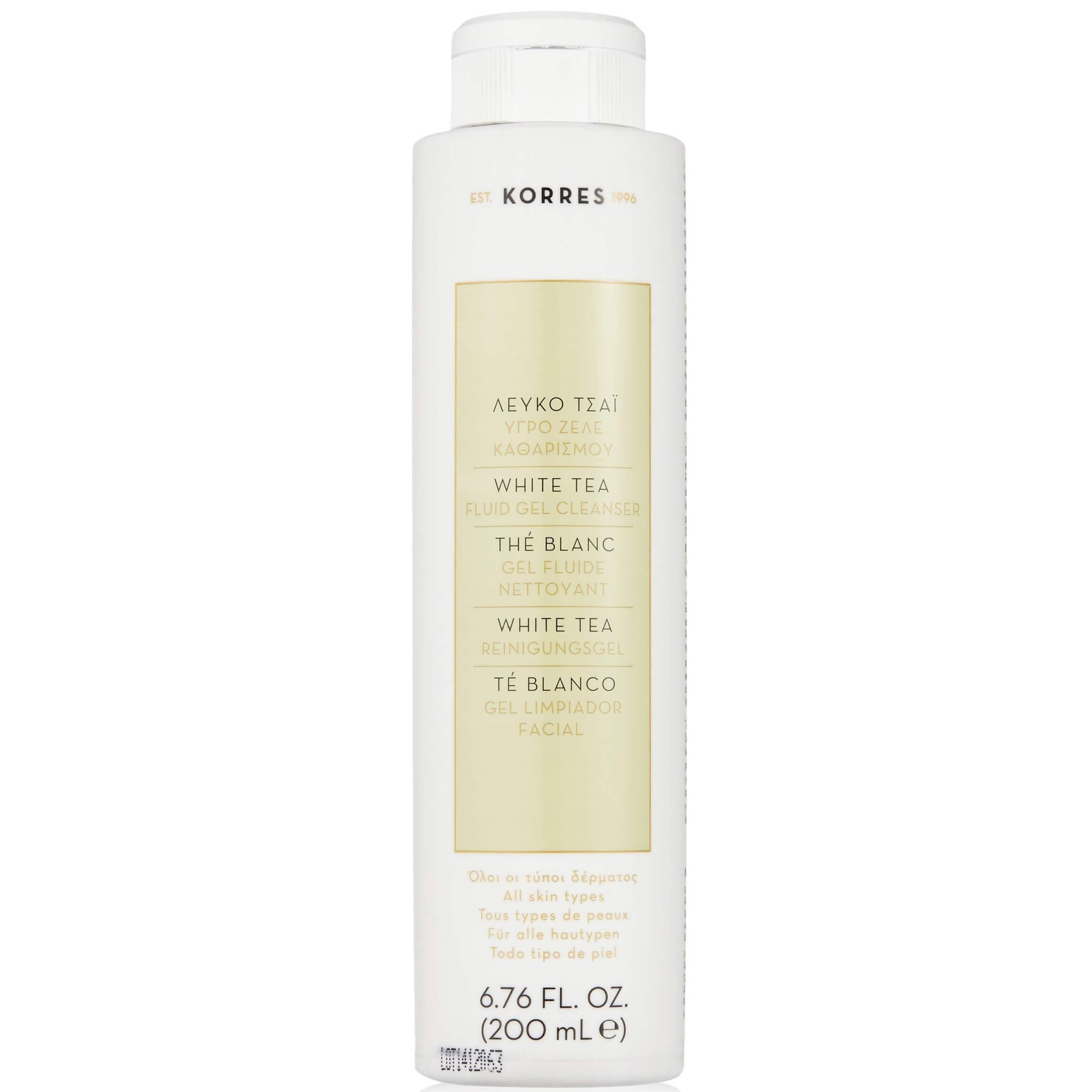 Korres Λευκό Τσάι Υγρό Gel Καθαρισμού για Όλους τους Τύπους Δέρματος 200ml ομορφιά   καθαρισμός προσώπου   υγρά   gel καθαρισμού