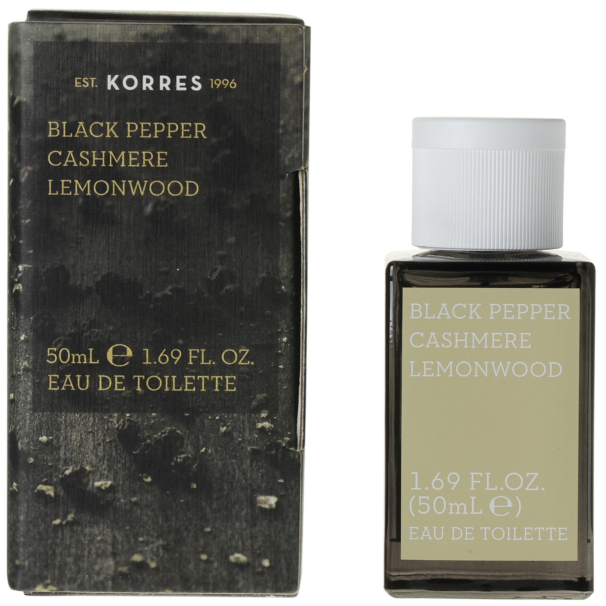 Korres Eau de Toilette Black Pepper, Cashmere & Lemonwood Ανδρικό Άρωμα50ml ομορφιά   αρώματα   αρώματα για τον άνδρα