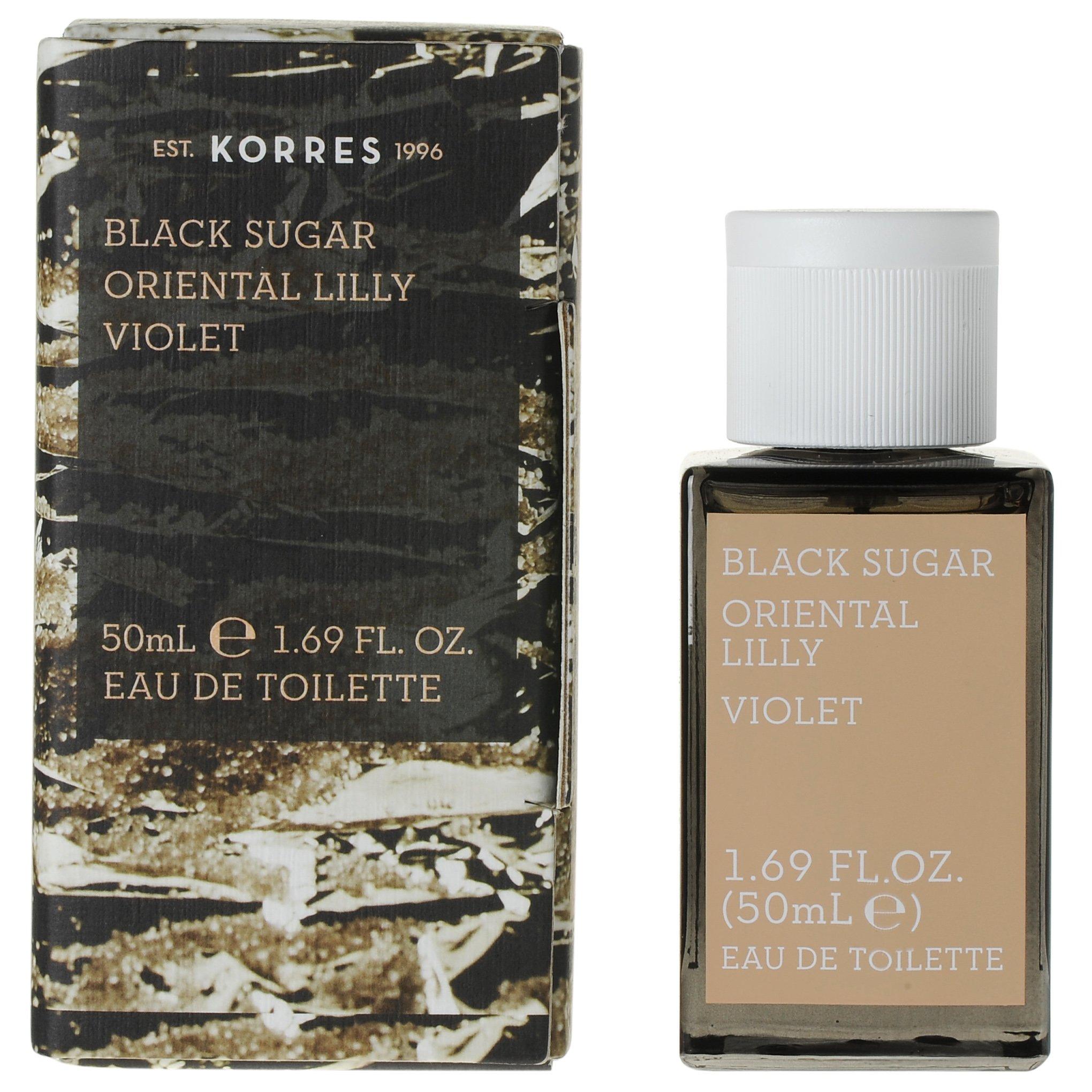 Korres Eau de Toilette Black Sugar Oriental Lily & Violet Γυναικείο Άρωμα 50ml ομορφιά   αρώματα   αρώματα για τη γυναίκα