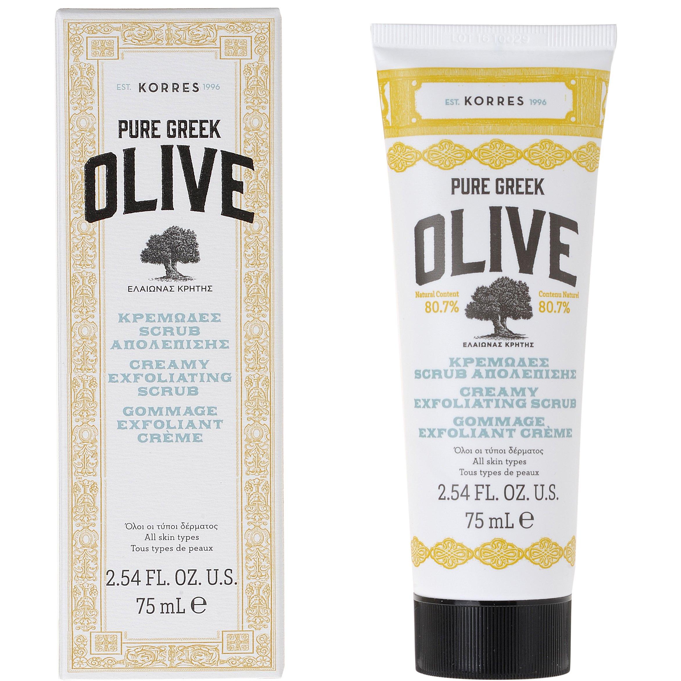 Korres Pure Greek Olive Κρεμώδες Scrub Απολέπισης Προσώπου 75ml