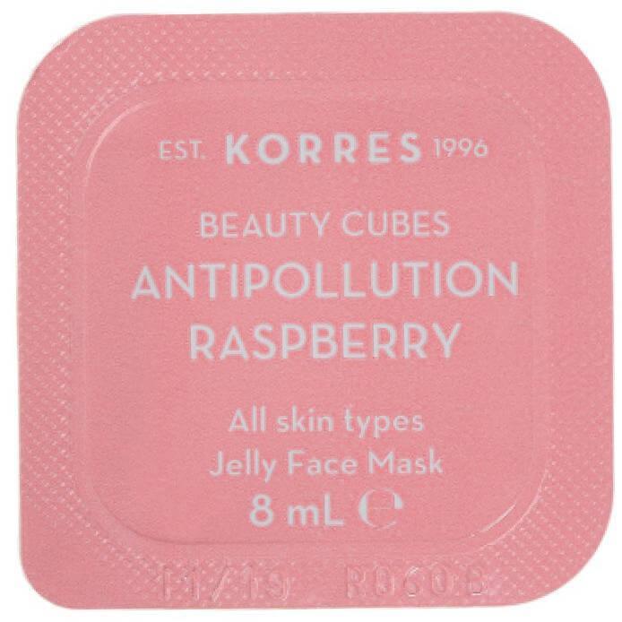Korres Beauty Cubes Antipollution Raspberry Jelly Face MaskΜάσκα Προσώπου Κατά των Ρύπων με Σµέουρα8ml