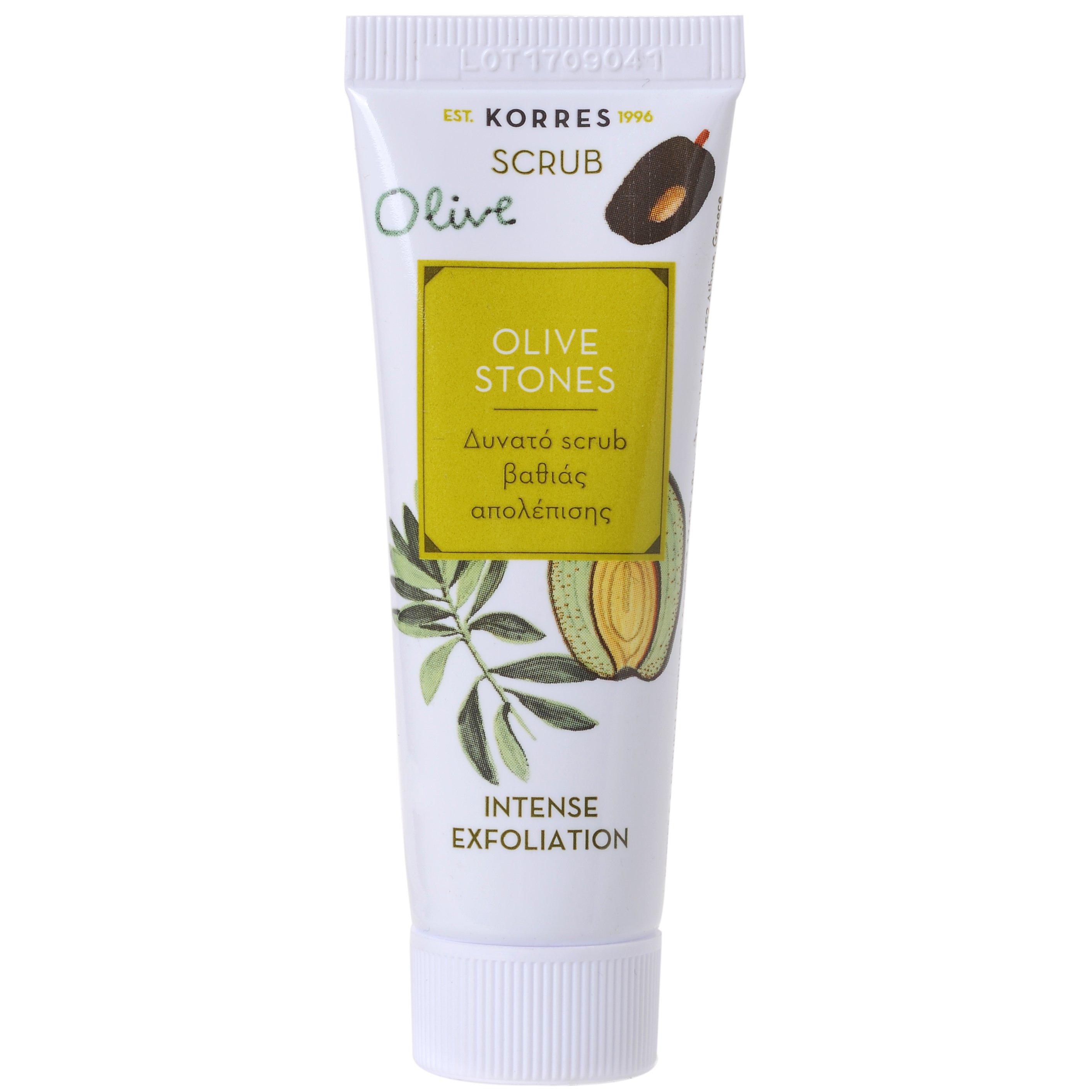 Korres Scrub Olive Stones Δυνατό Scrub Βαθιάς Απολέπισης για Βαθύ Καθαρισμό 18ml