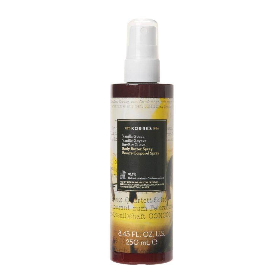 Korres Vanilla Guava Body Butter Spray Ενυδατικό Butter Σώματος σε Μορφή Spray, Άρωμα Γλυκιάς Βανίλιας & Εξωτικών Φρούτων 250ml
