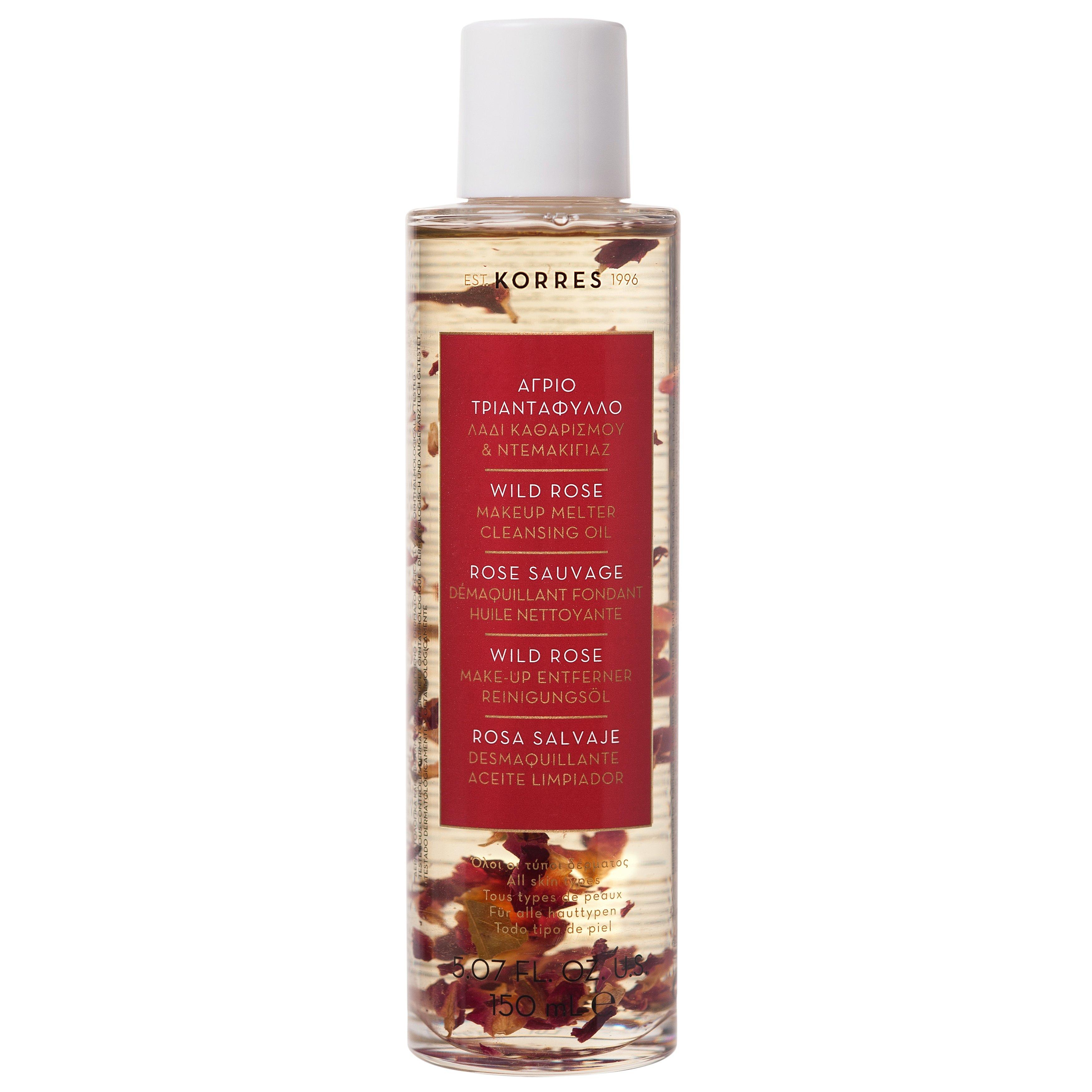 Korres Wild Rose Makeup Melter Cleansing Oil Λάδι Καθαρισμού & Ντεμακιγιάζ με Άγριο Τριαντάφυλλο, Όλοι οι Τύποι Δέρματος 150ml