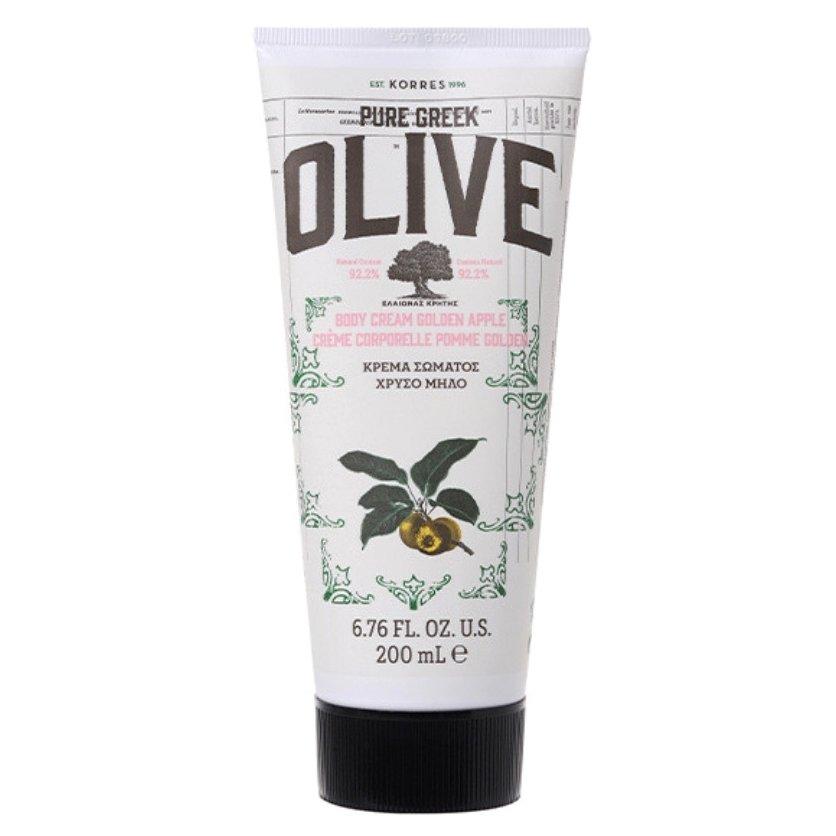 Korres Pure Greek Olive Body Cream Golden Apple Ενυδατική Κρέμα Σώματος Χρυσό Μήλο 200ml