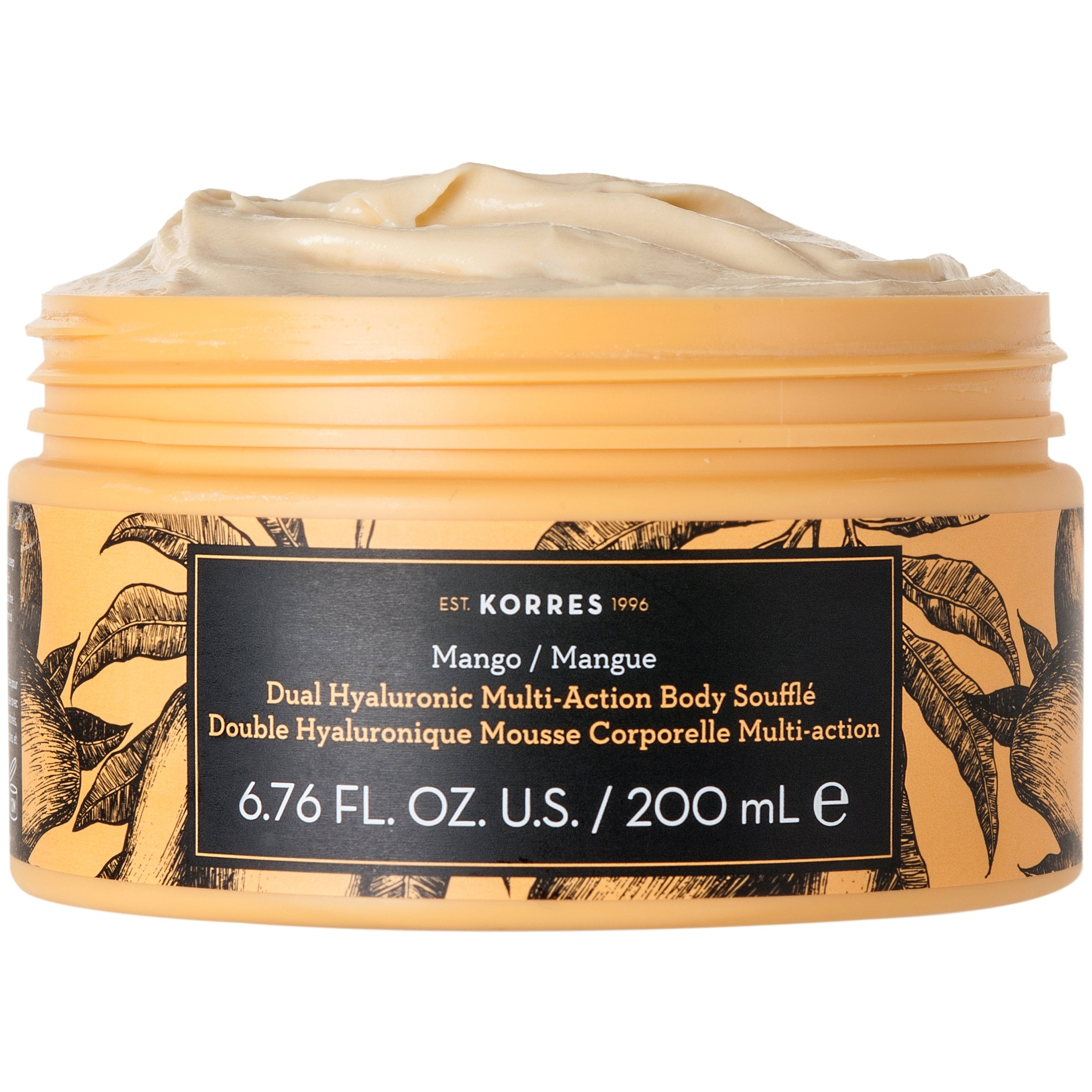 Korres Dual Hyaluronic Multi Action Body Souffle με Διπλό Υαλουρονικό Άρωμα Mango 200mL