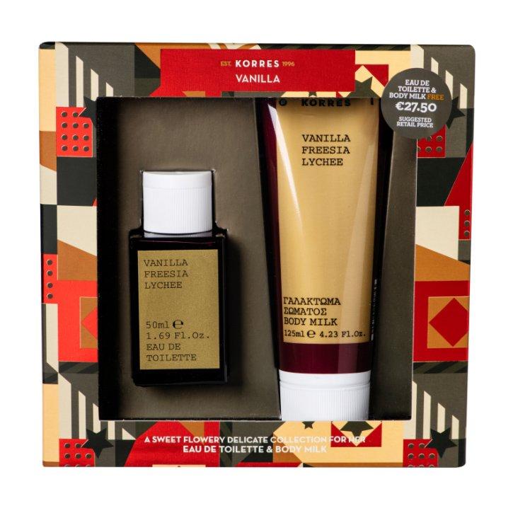 Korres Πακέτο Προσφοράς Vanilla, Freesia & Lychee Eau de Toilette 50ml & Δώρο Body Milk 125ml