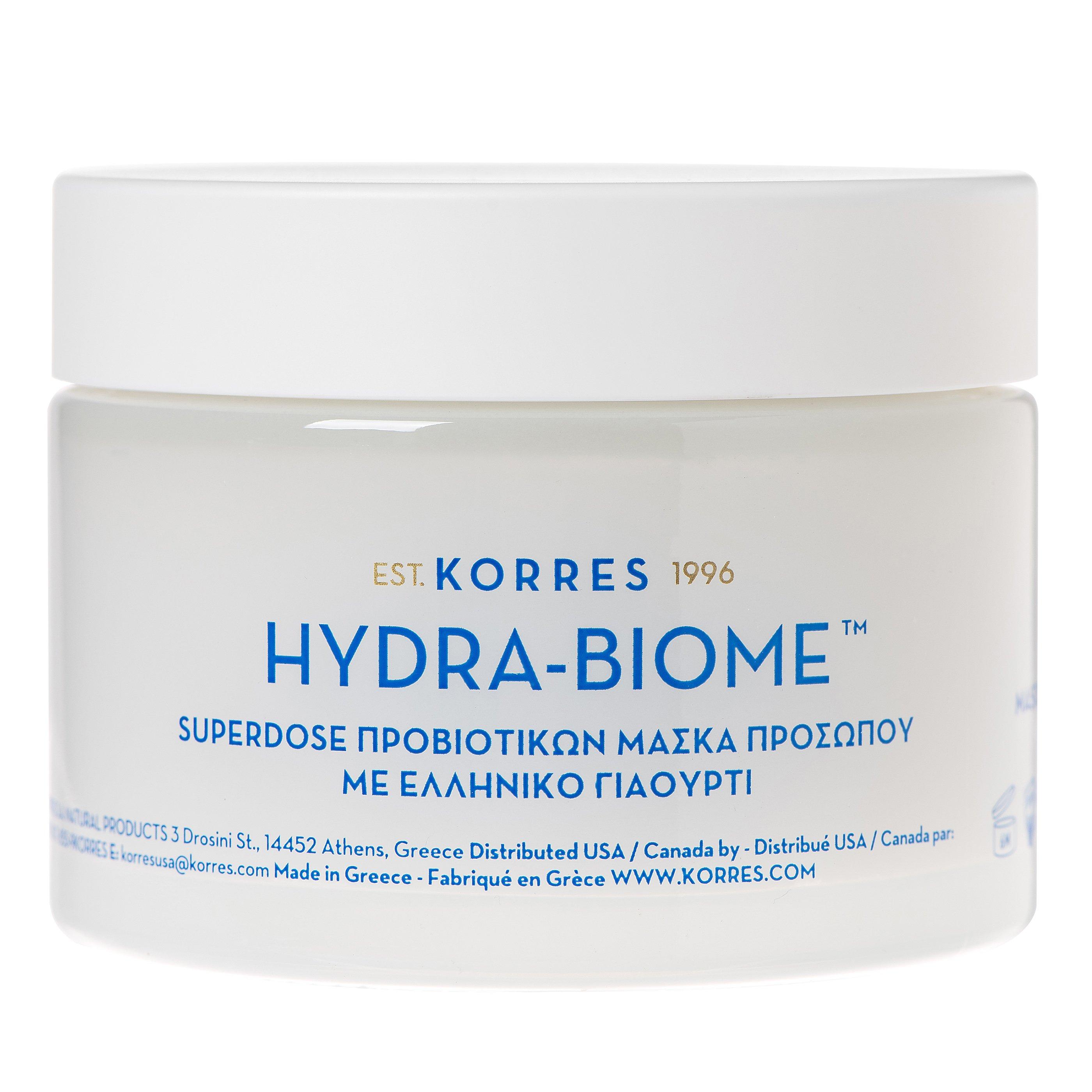 Korres Hydra-Biome Superdose Προβιοτικών, Καινοτομική Μάσκα Προσώπου με Ελληνικό Γιαούρτι για την Διψασμένη Επιδερμίδα 100ml