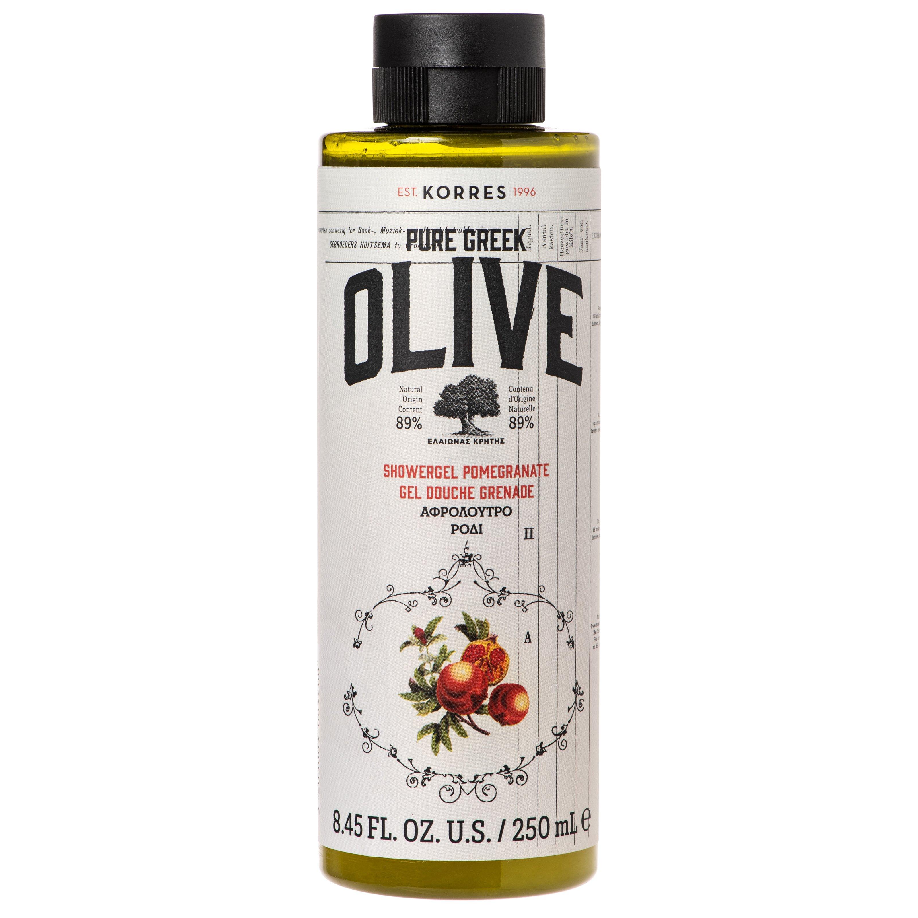 Korres Pure Greek Olive Showergel Pomegranate Τονωτικό Αφρόλουτρο με Εξαιρετικό Παρθένο Ελαιόλαδο & Άρωμα Ρόδι 250ml