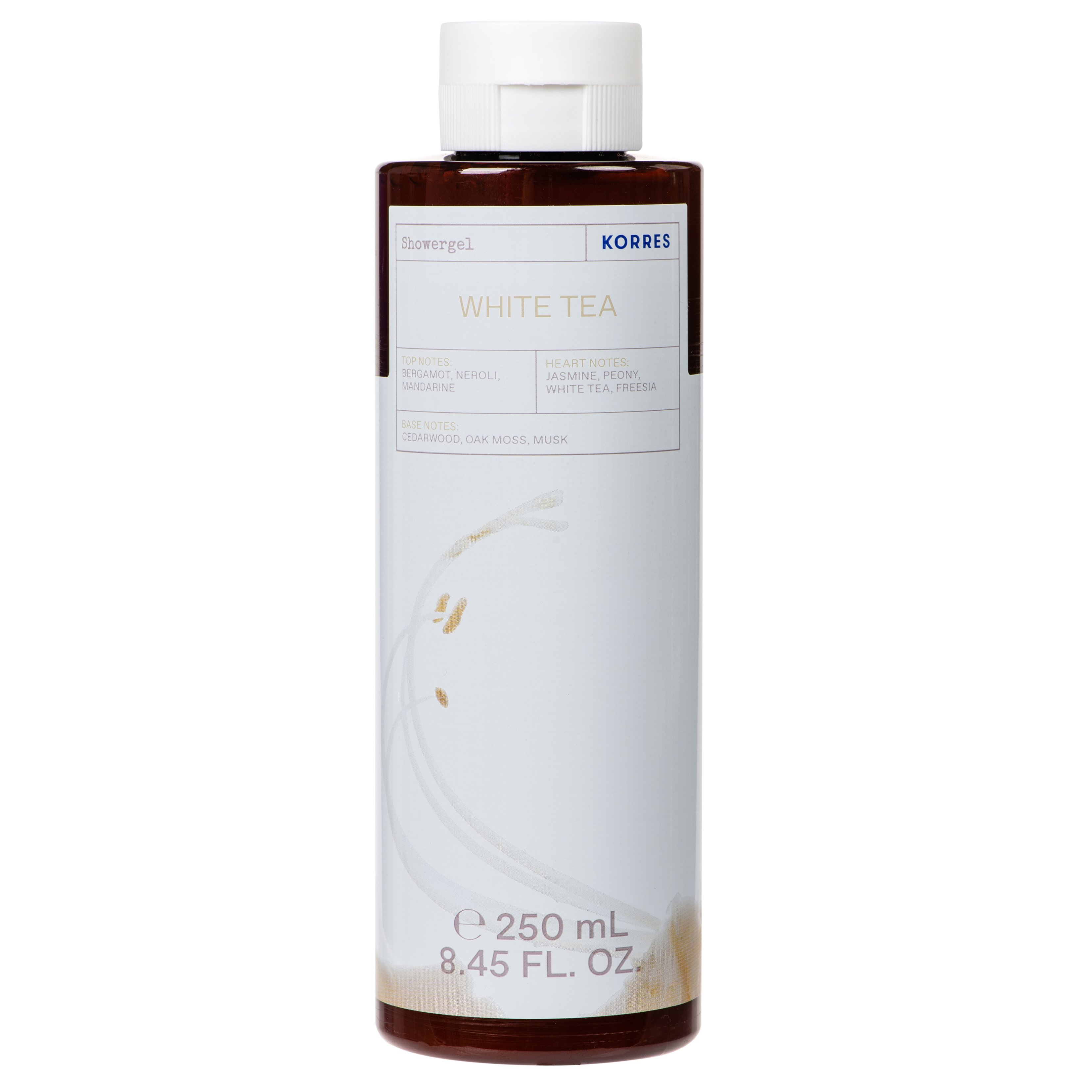 Korres White Tea Showergel Αρωματικό Αφρόλουτρο με Ενυδατικούς Παράγοντες 250ml