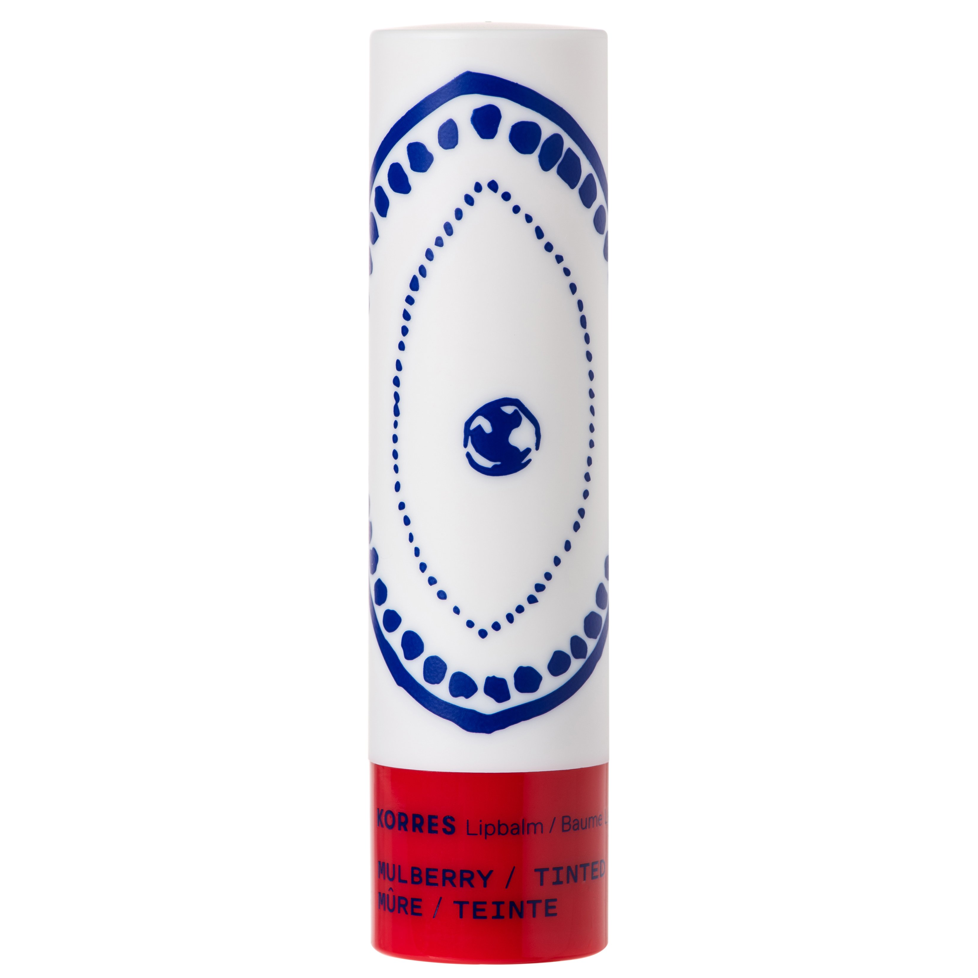 Korres Lip Balm Mulberry Tinded Εντατική Ενυδατική Φροντίδα για τα Χείλη με Ζουμερό Χρώμα από Κόκκινα Μούρα 4.5g