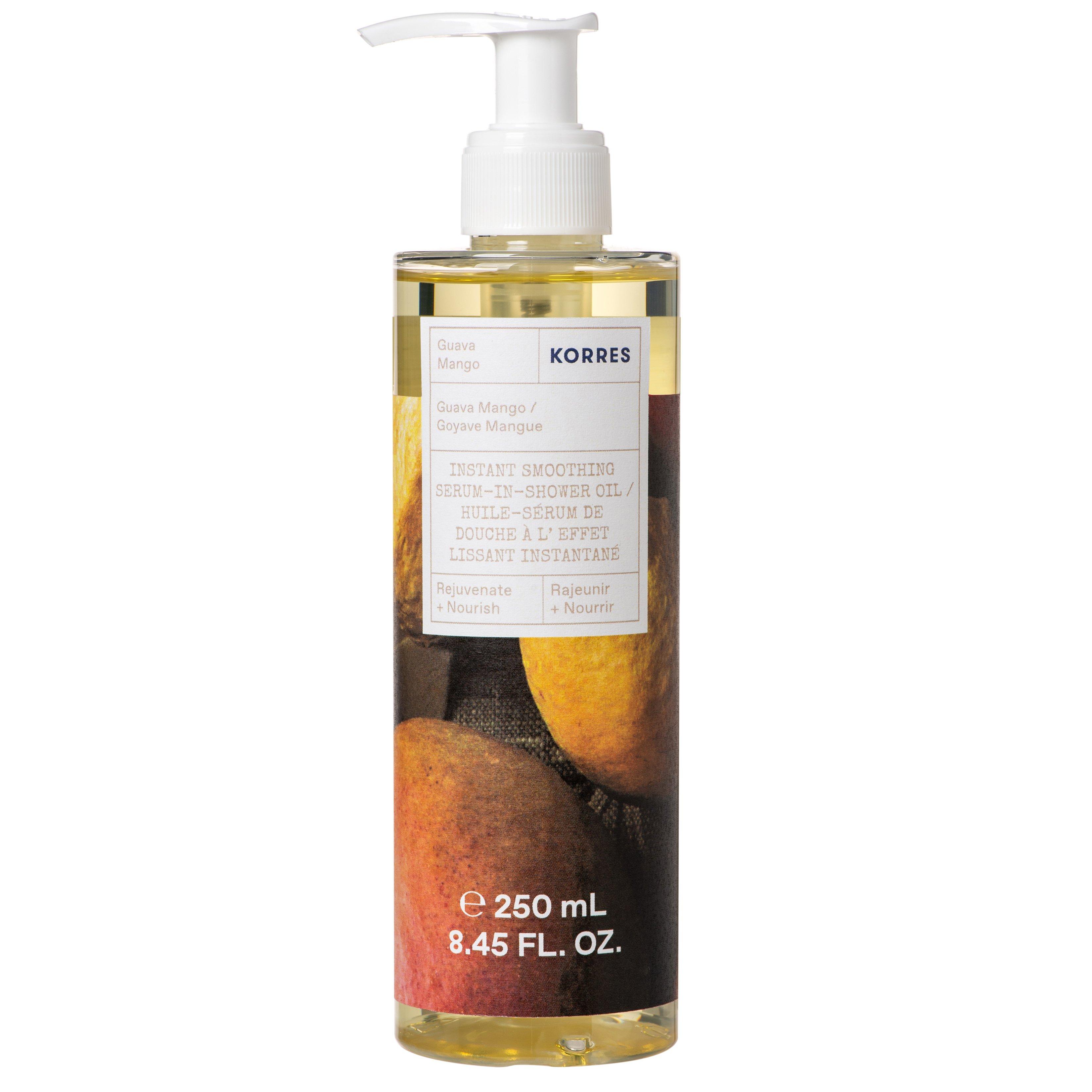 Korres Instant Smoothing Serum in Shower Oil Guava Mango Ενυδατικό Serum-Oil Σώματος για Θρέψη & Λάμψη 250ml