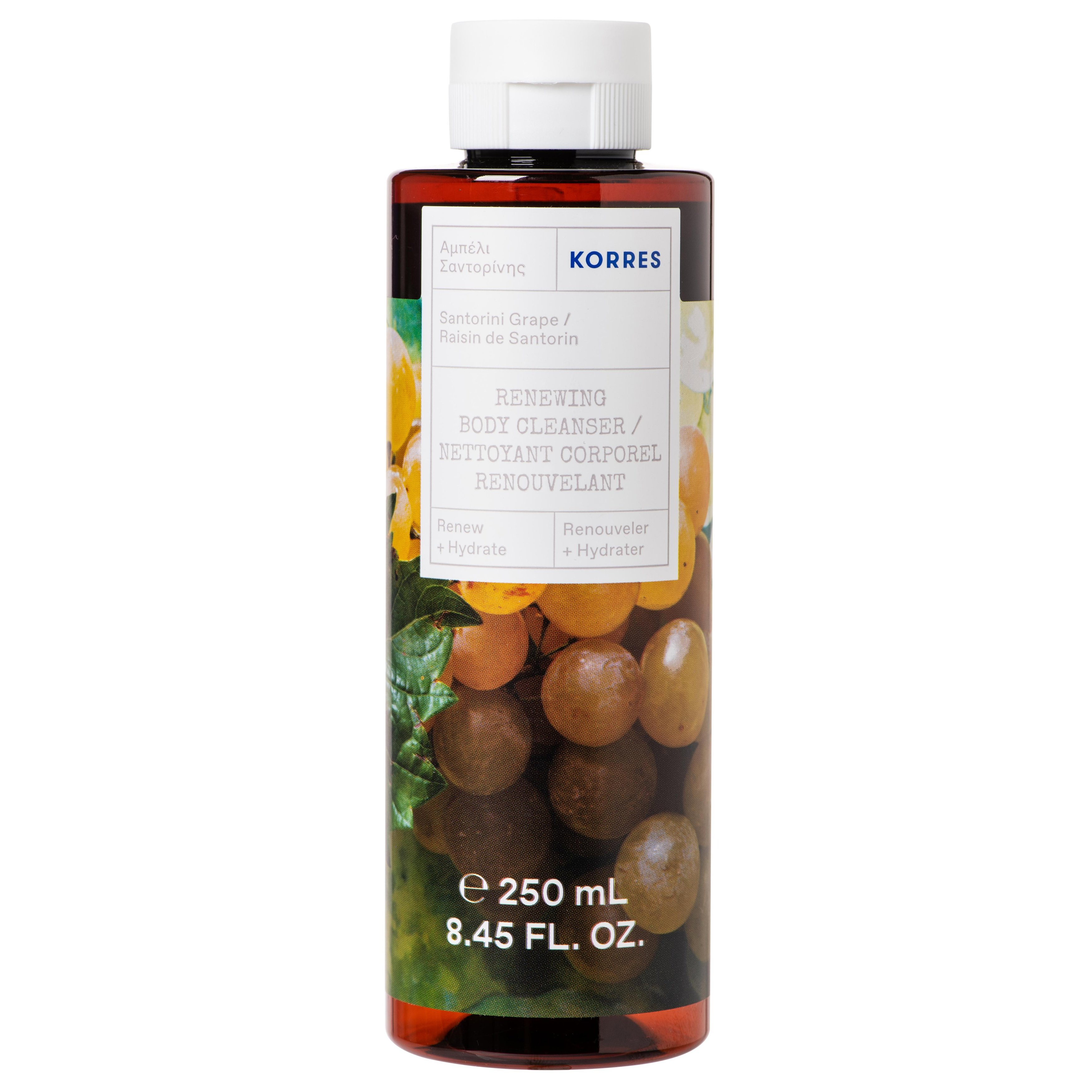 Korres Santorini Grape Body Cleanser Ενυδατικό Αφρόλουτρο με Φρέσκο, Φρουτώδες Άρωμα Αμπέλι Σαντορίνης 250ml