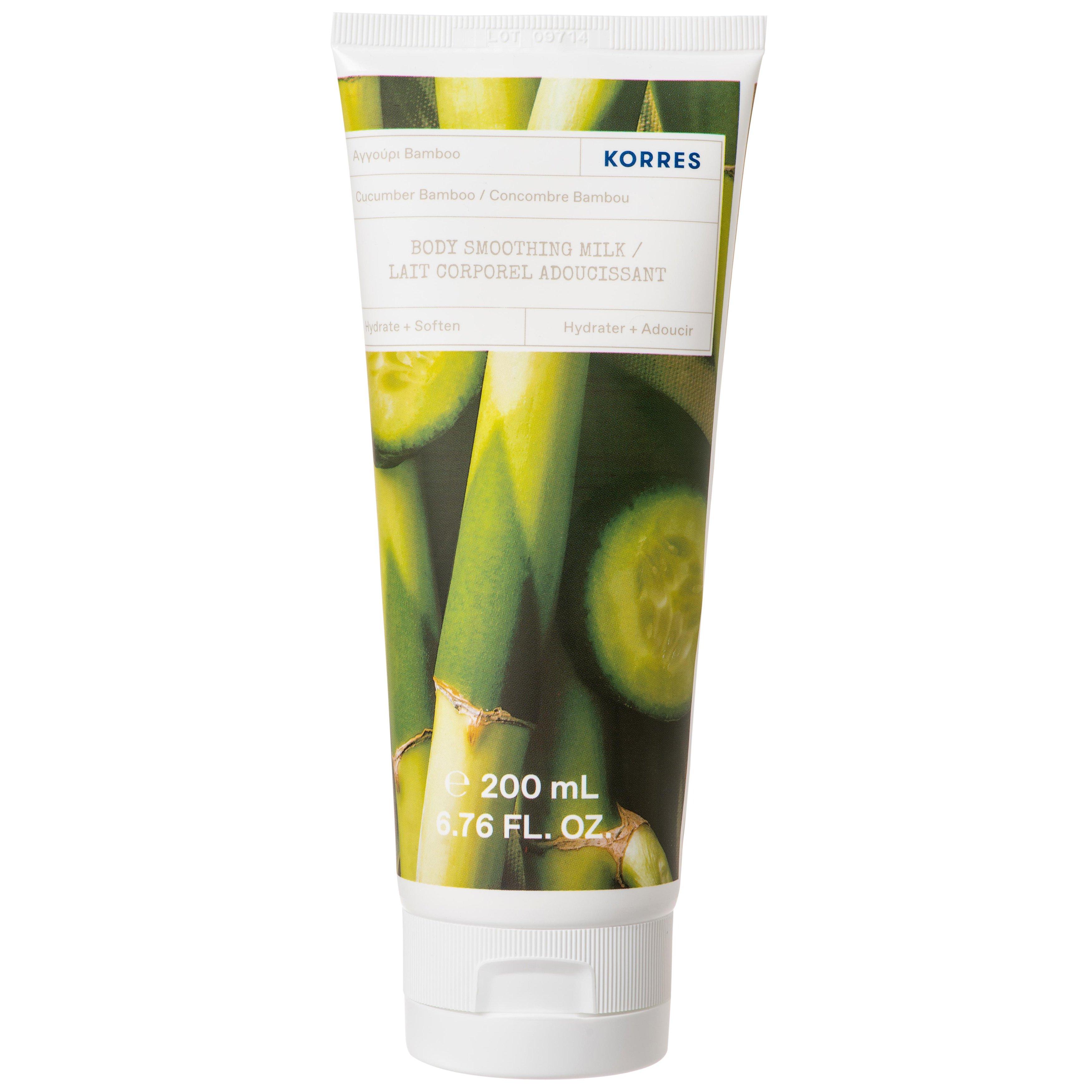 Korres Cucumber Bamboo Body Smoothing Milk Ενυδατικό Γαλάκτωμα Σώματος με Άρωμα Αγγούρι Bamboo 200ml