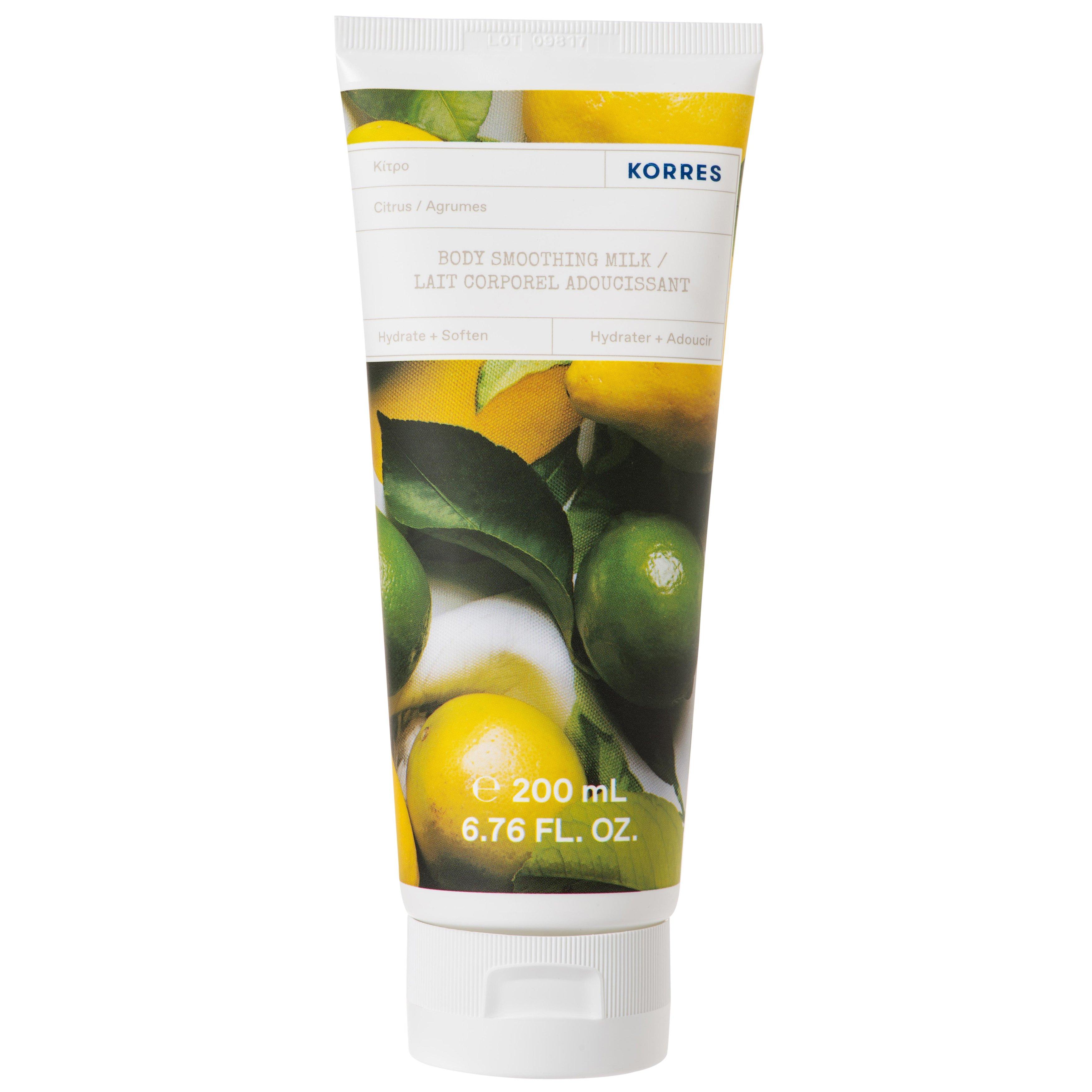 Korres Citrus Body Smoothing Milk Ενυδατικό Γαλάκτωμα Σώματος με Φρέσκο, Αναζωογονητικό Άρωμα Κίτρο 200ml