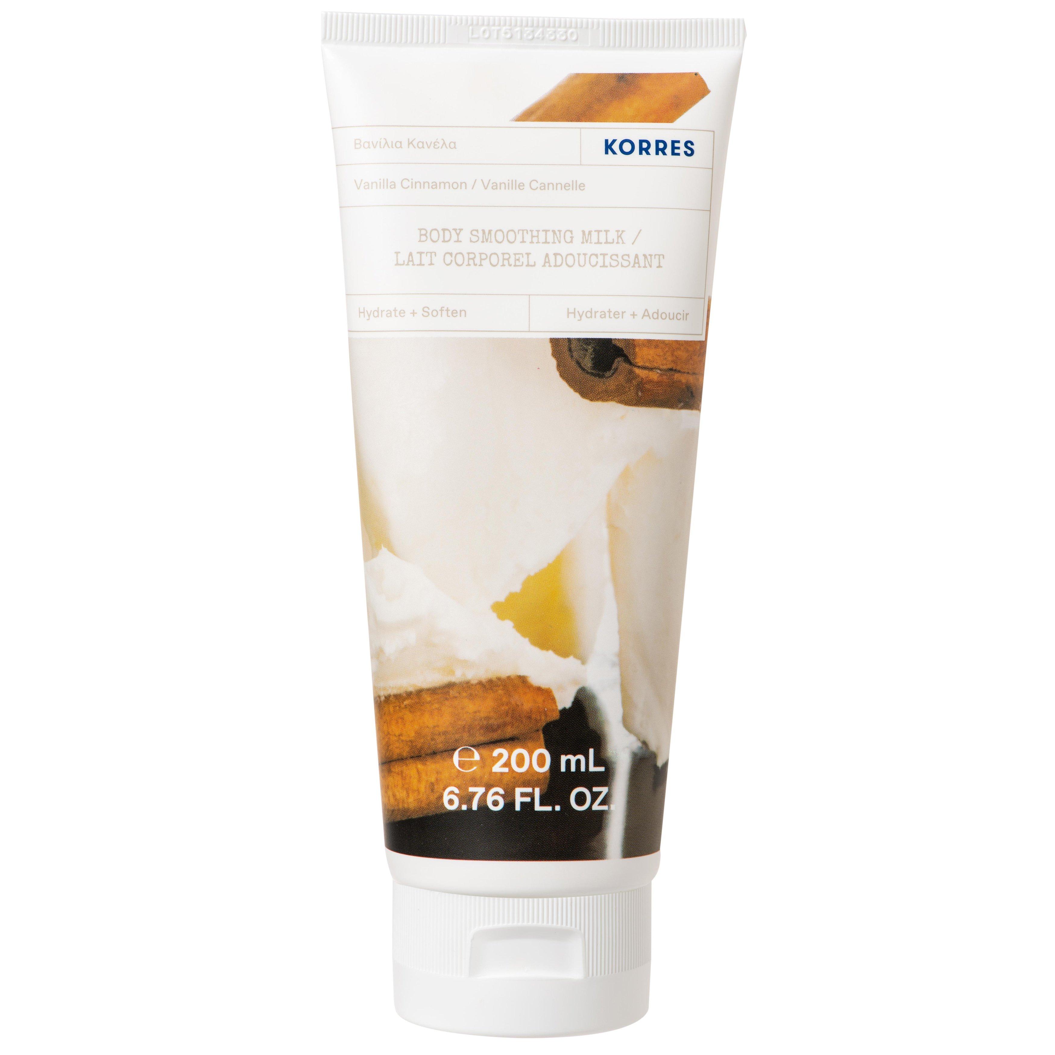 Korres Vanilla Cinnamon Body Smoothing Milk Ενυδατικό Γαλάκτωμα Σώματος με Κρεμώδες Άρωμα Βανίλια Κανέλα 200ml