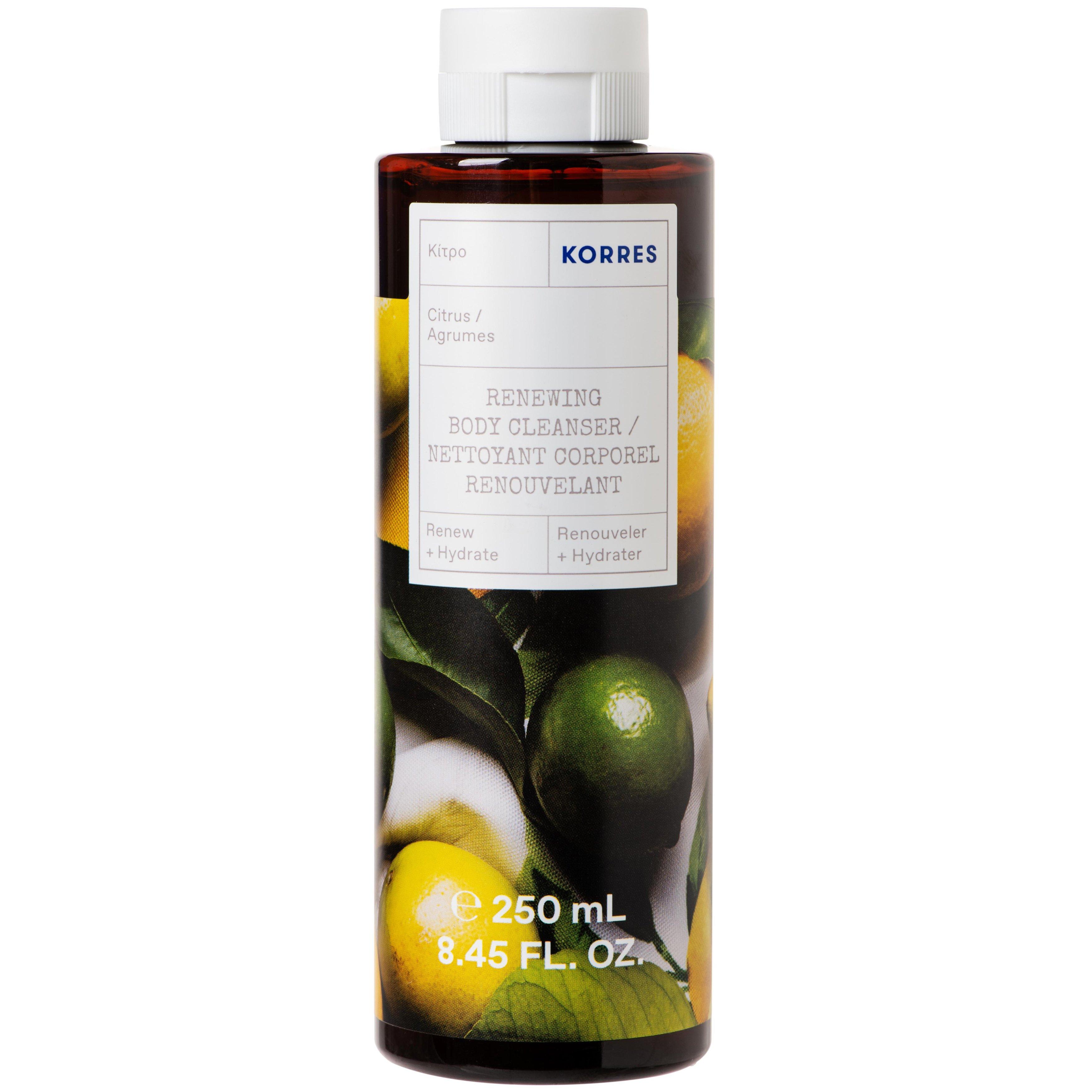 Korres Citrus Body Cleanser Ενυδατικό Αφρόλουτρο με Φρέσκο, Αναζωογονητικό Άρωμα Κίτρο 250ml