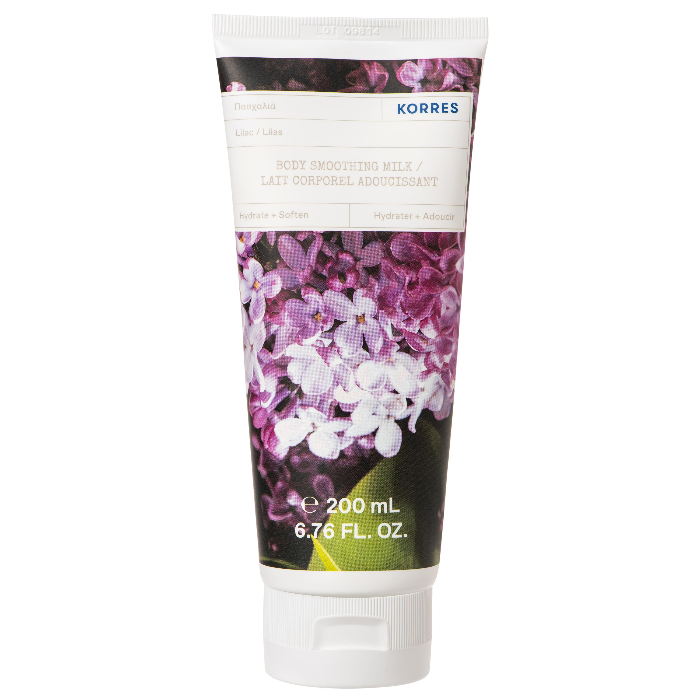 Korres Lilac Body Smoothing Milk Ενυδατικό Γαλάκτωμα Σώματος με Άρωμα Φρεσκοκομμένης Πασχαλιάς 200ml
