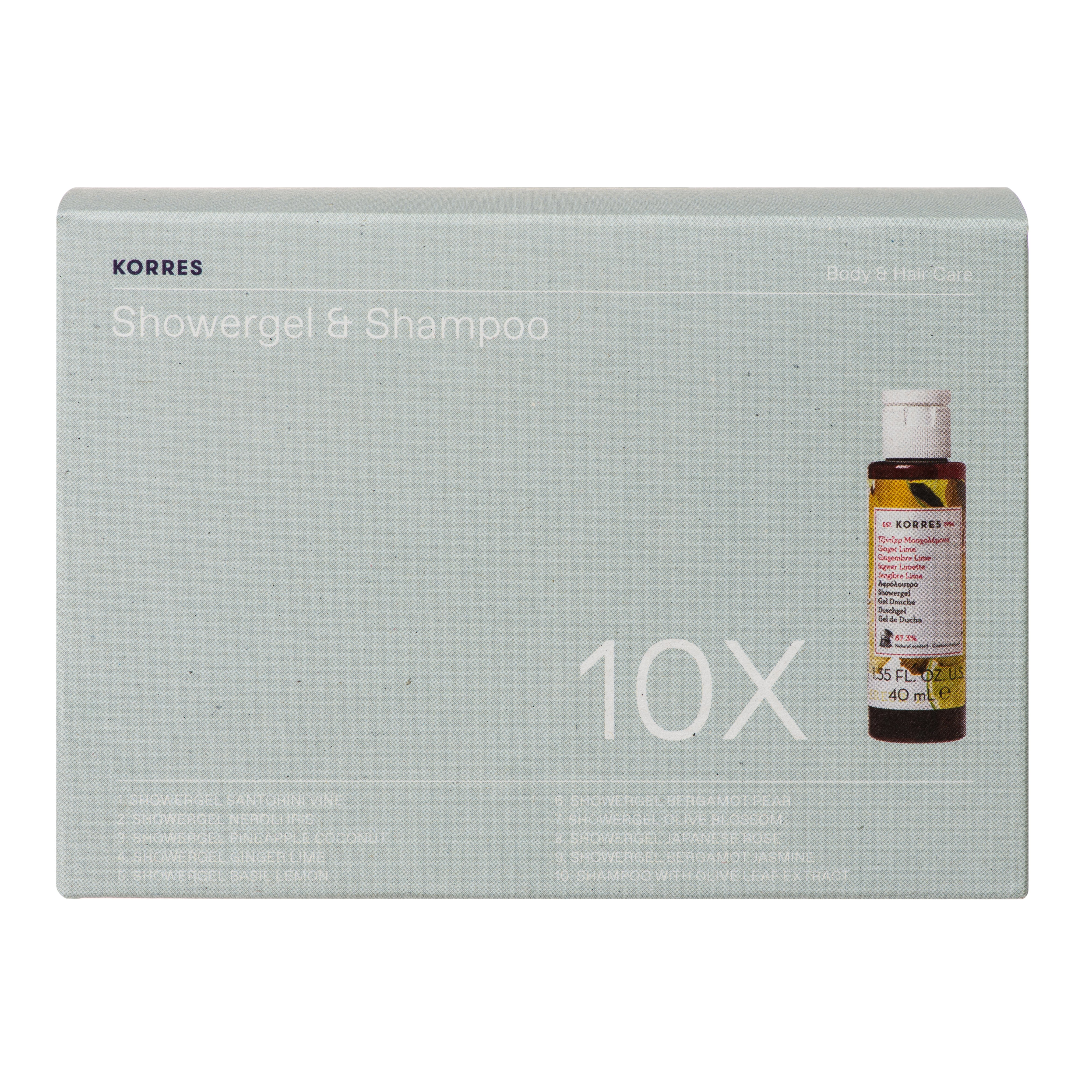 Korres Πακέτο Προσφοράς The Best-Of Showergels Collection Αρωματικά Αφρόλουτρα Travel Size 10x40ml σε Ειδική Τιμή