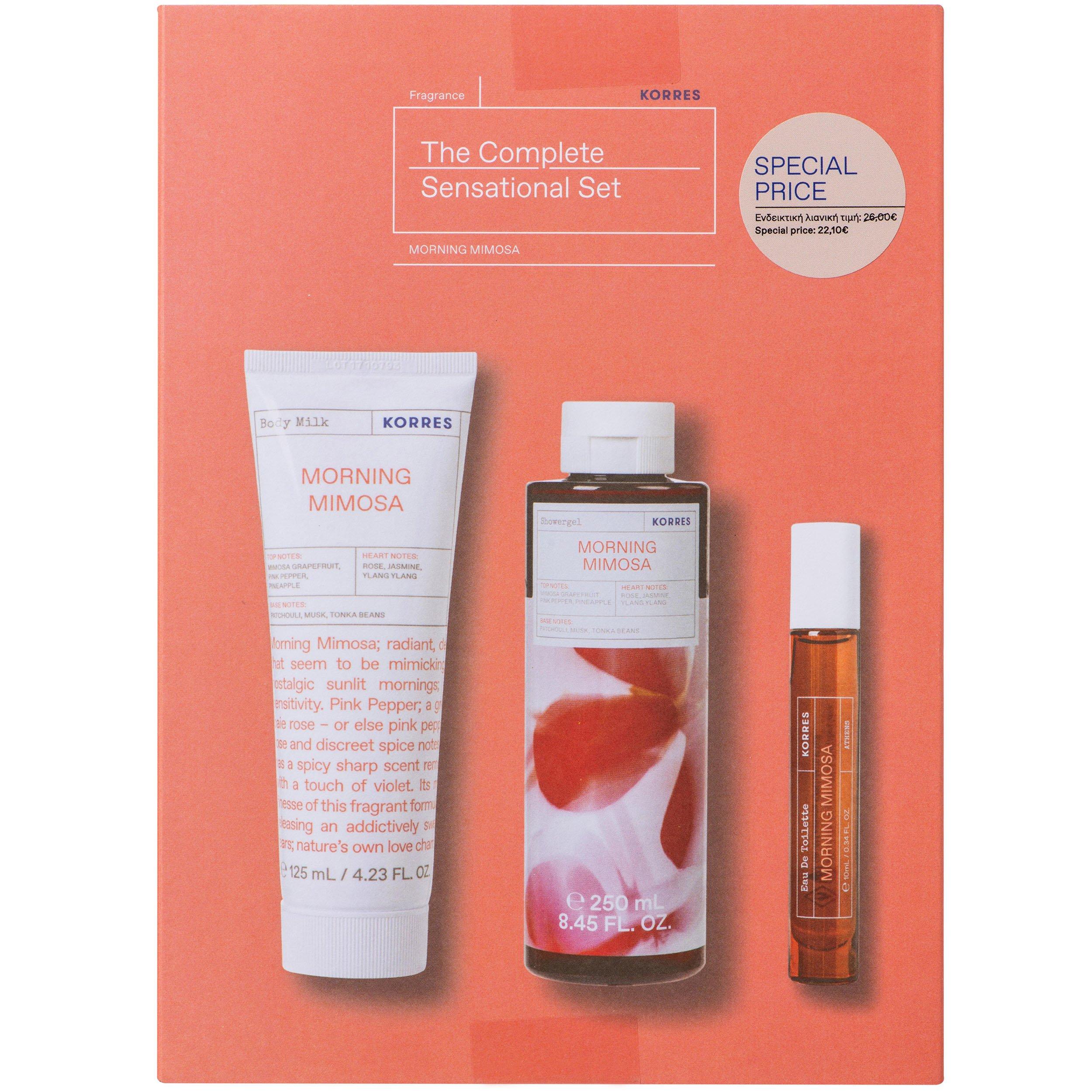 Korres Promo Morning Mimosa Body Milk 125ml & Showergel 250ml & Eau De Toilette 10ml