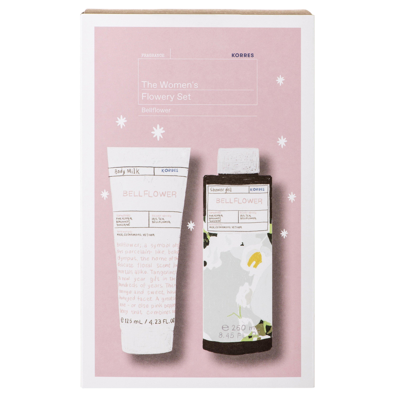 Korres Gift Set The Women's Flowery Set Bellflower Body Milk 125ml & Showergel 250ml σε Ειδική Τιμή