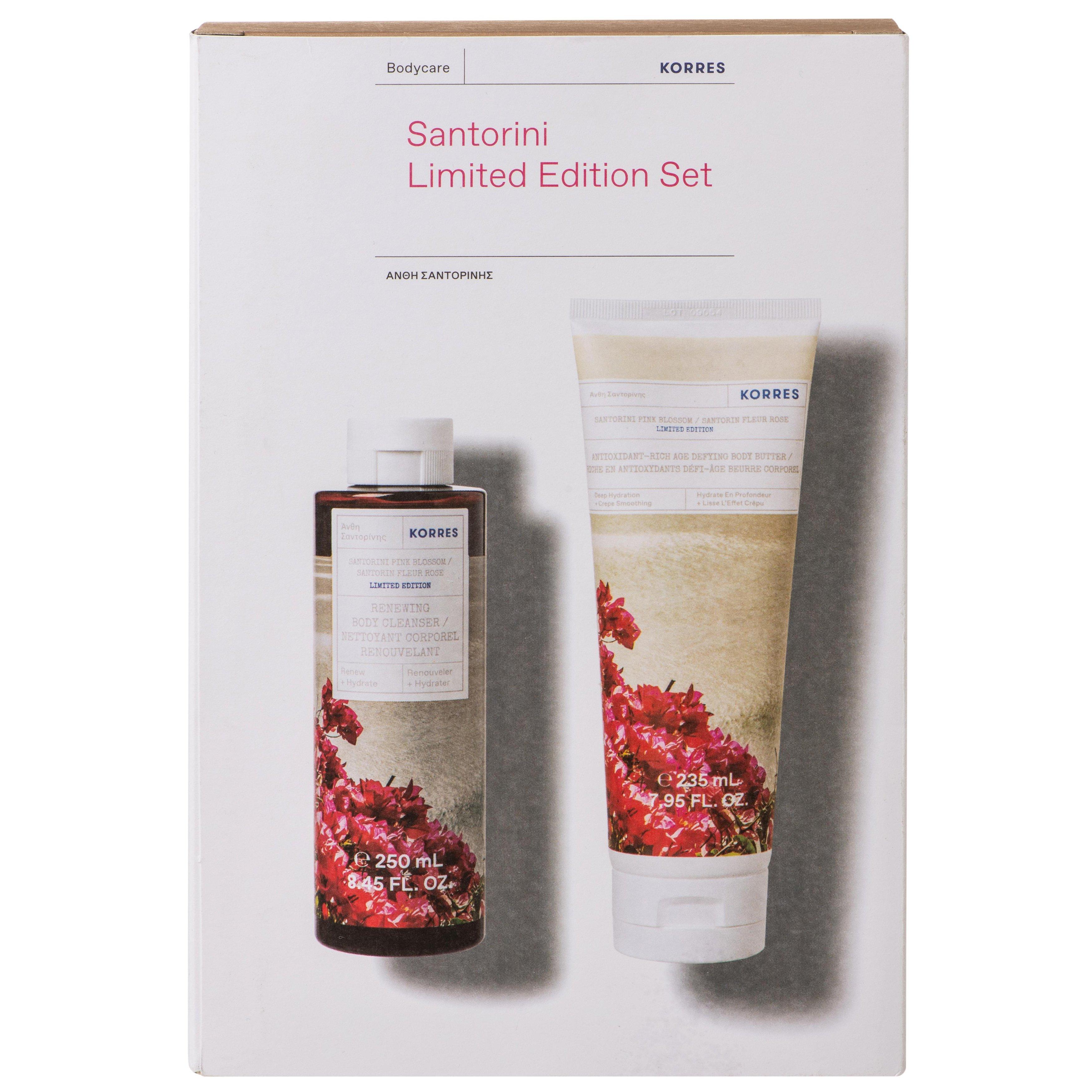 Korres Πακέτο Προσφοράς Santorini Limited Edition Set Άνθη Σαντορίνης Αφρόλουτρο 250ml & Γαλάκτωμα Σώματος 235ml