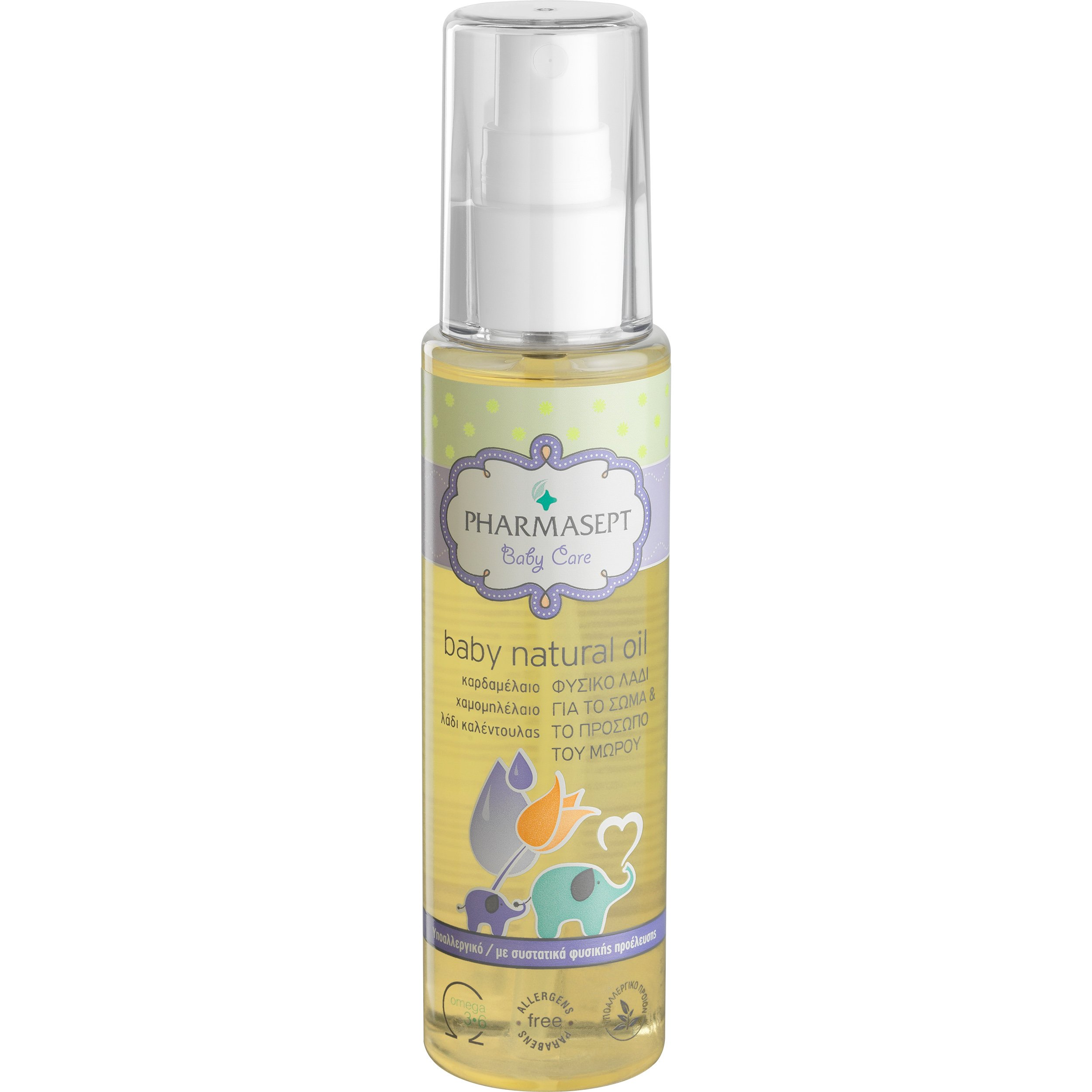 Pharmasept Baby Care Baby Natural Oil Βρεφικό Υποαλλεργικό Λάδι Ενυδάτωσης & Φροντίδας με 100% Φυσική Σύνθεση 100ml