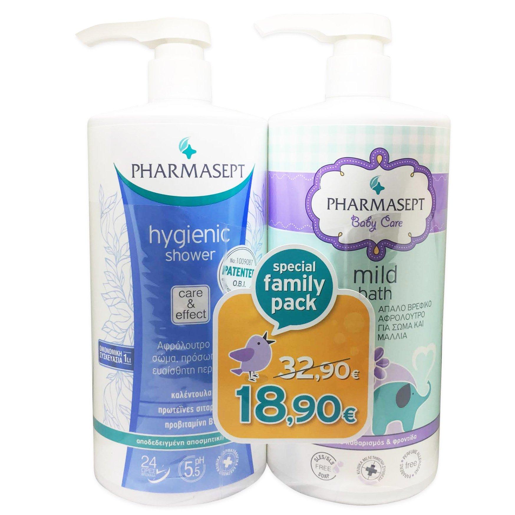 05a0eceb6f5 pharm24 Pharmasept Πακέτο Προσφοράς Hygienic Shower 1Lt & Baby Care Mild  Bath 1Lt σε Ειδική Τιμή