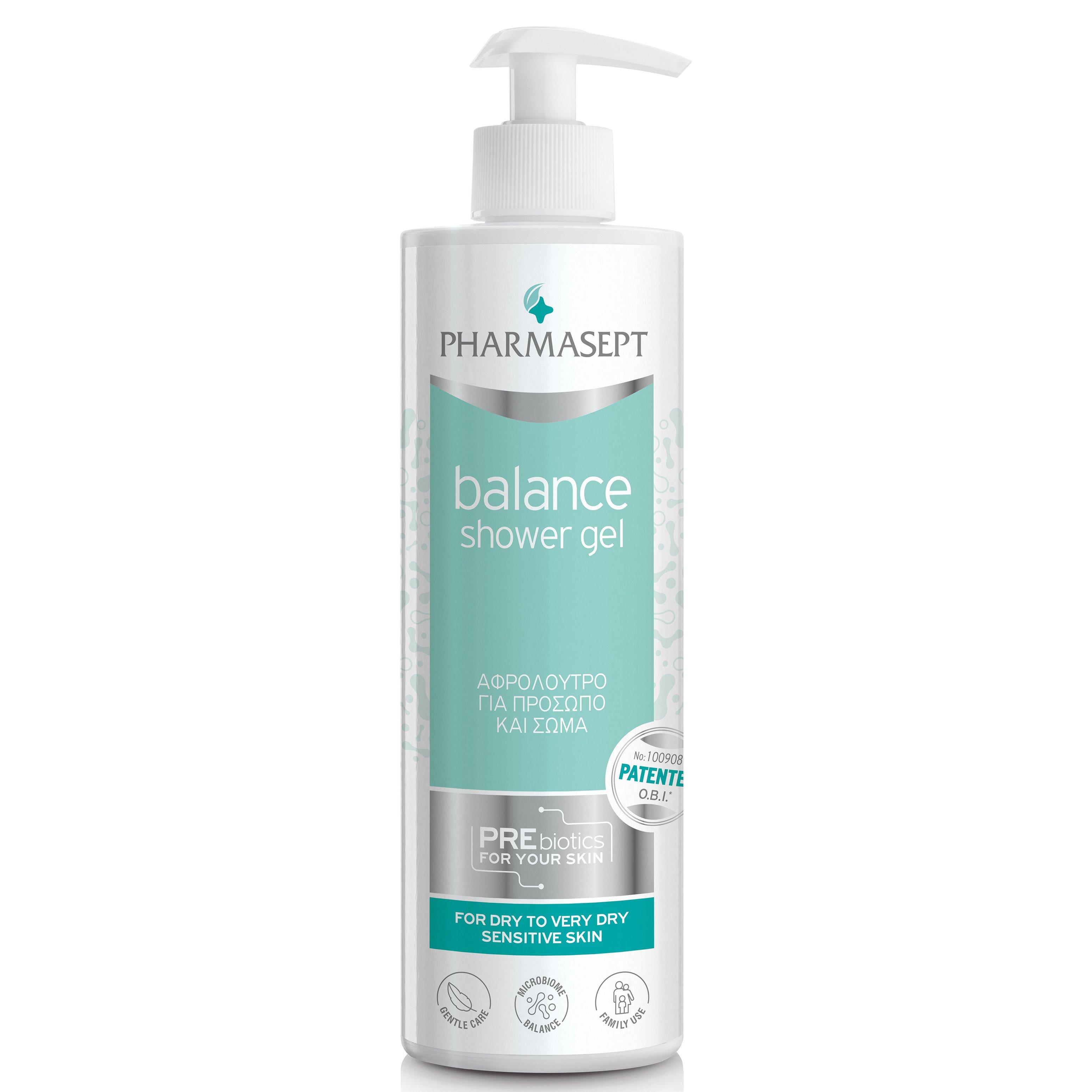 Pharmasept Balance Shower Gel Αφρόλουτρο Καθημερινής Χρήσης για Πρόσωπο & Σώμα 500ml