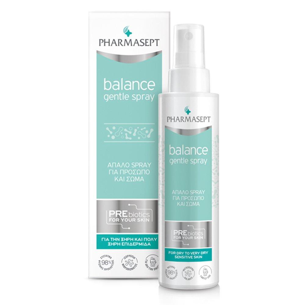 Pharmasept Balance Gentle Spray for Face & Body Απαλό Spray Καθημερινής Χρήσης για Πρόσωπο, Σώμα & Περιοχή Ντεκολτέ 100ml