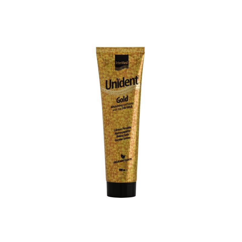 Intermed Unident Gold Λευκαντική Οδοντόπαστα με Αληθινό Χρυσό 100ml