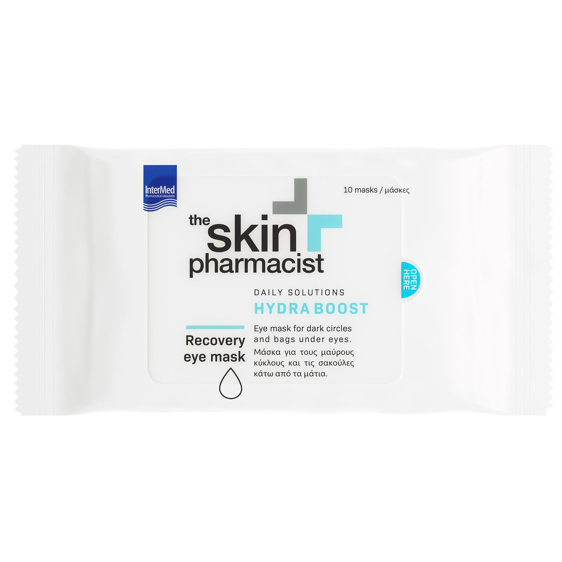 The Skin Pharmacist Hydra Boost Recovery Eye Mask Μάσκα για τους Μαύρους Κύκλους & τις Σακούλες Κάτω Από τα Μάτια 10Masks x 4ml