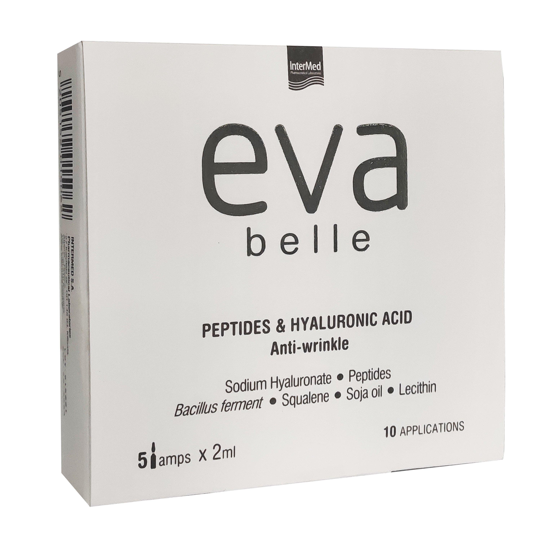 Eva Belle Peptides & Hyaluronic Acid Anti-Wrinkle Αμπούλες για την Αντιμετώπιση των Λεπτών Γραμμών & Ρυτίδων 5 amps x 2ml,