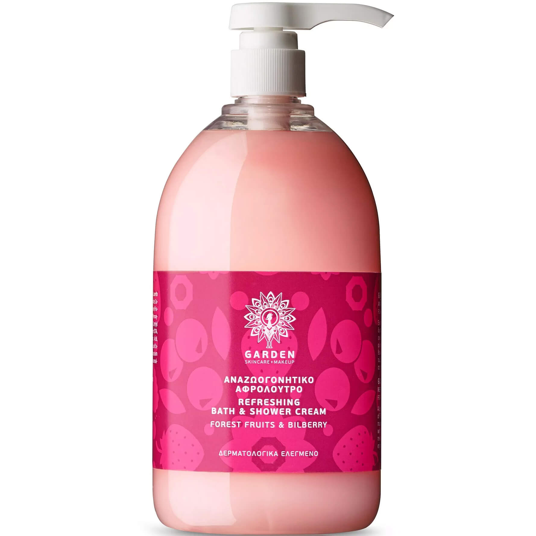 Garden of Panthenols Refreshing Bath & Shower Cream Forest Fruits & Bilberry Αναζωογονητικό Αρωματικό Αφρόλουτρο 1Lt
