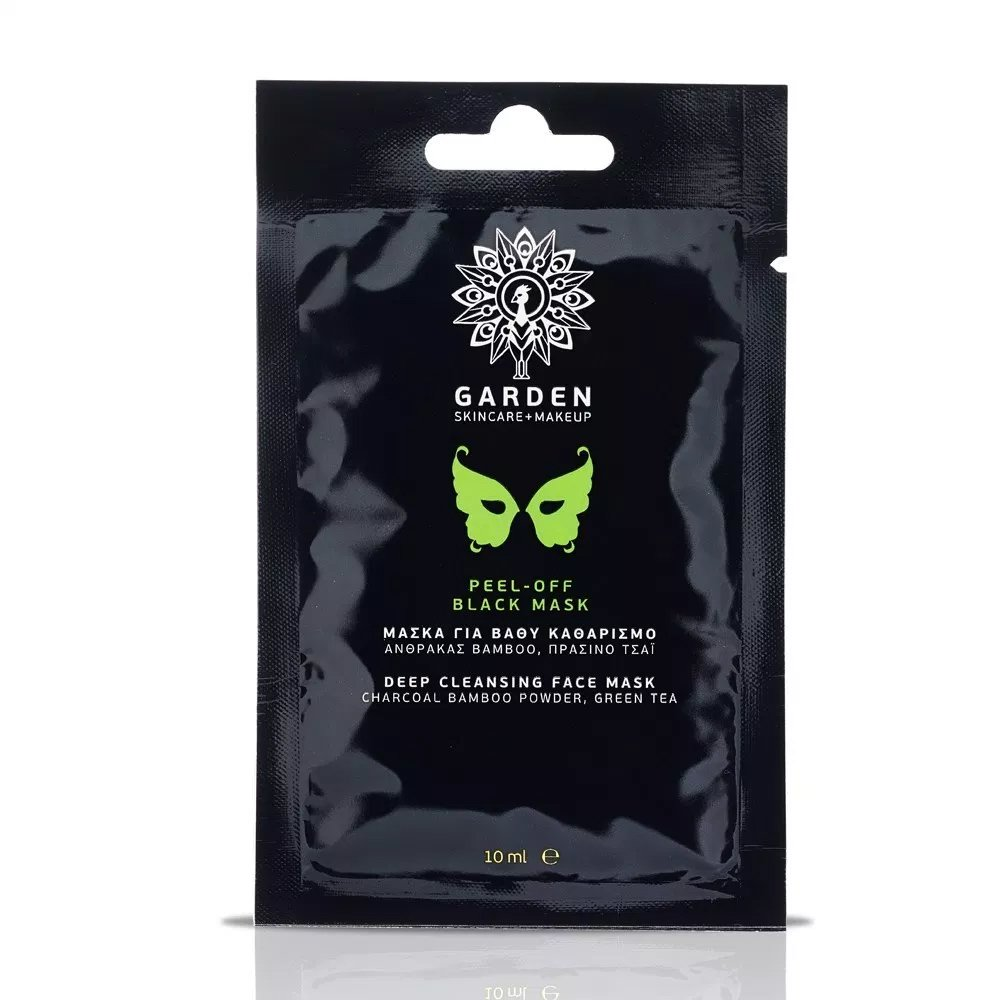 Garden of Panthenols Peel-Off Black Mask Μάσκα Βαθύ Καθαρισμού Προσώπου με Άνθρακα,Bamboo & Πράσινο Τσάι 10ml