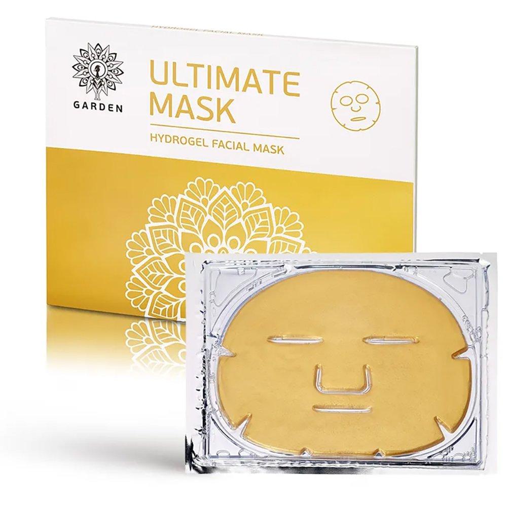 Garden Ultimate Hydrogel Facial Mask Ενυδατική & Συσφικτική Μάσκα Προσώπου Υδρογέλης με Χρυσό & Κολλαγόνο 2 Τεμάχια