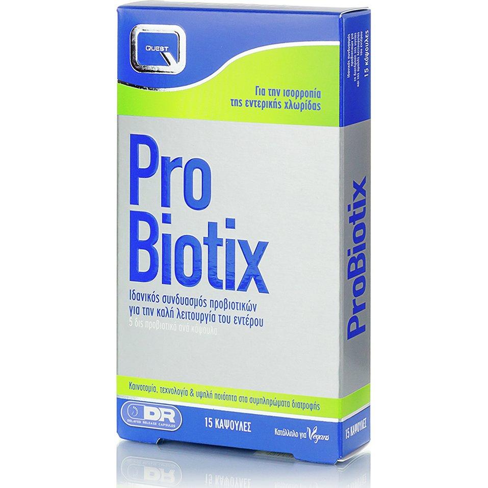 Quest ProBiotix Προβιοτικά που Βοηθούν στην Αποκατάσταση της Χλωρίδας του Εντέρου 15caps