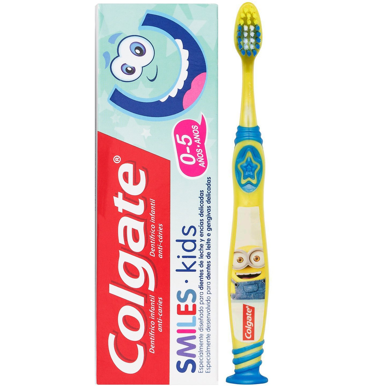 Colgate Πακέτο Προσφοράς Minions Kids Soft Παιδική Οδοντόβουρτσα 2-6 Ετών & Δώρο Smiles Kids Παιδική Οδοντόκρεμα 0-5 Ετών 50ml