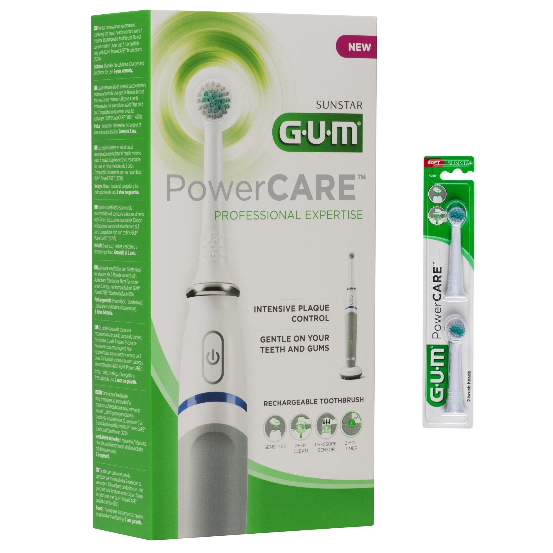 Gum 4200m Powercare Recharge Ηλεκτρική Οδοντόβουρτσα 1 Τεμάχιο & Δώρο Ανταλλακτικές Κεφαλές 2 Τεμάχια