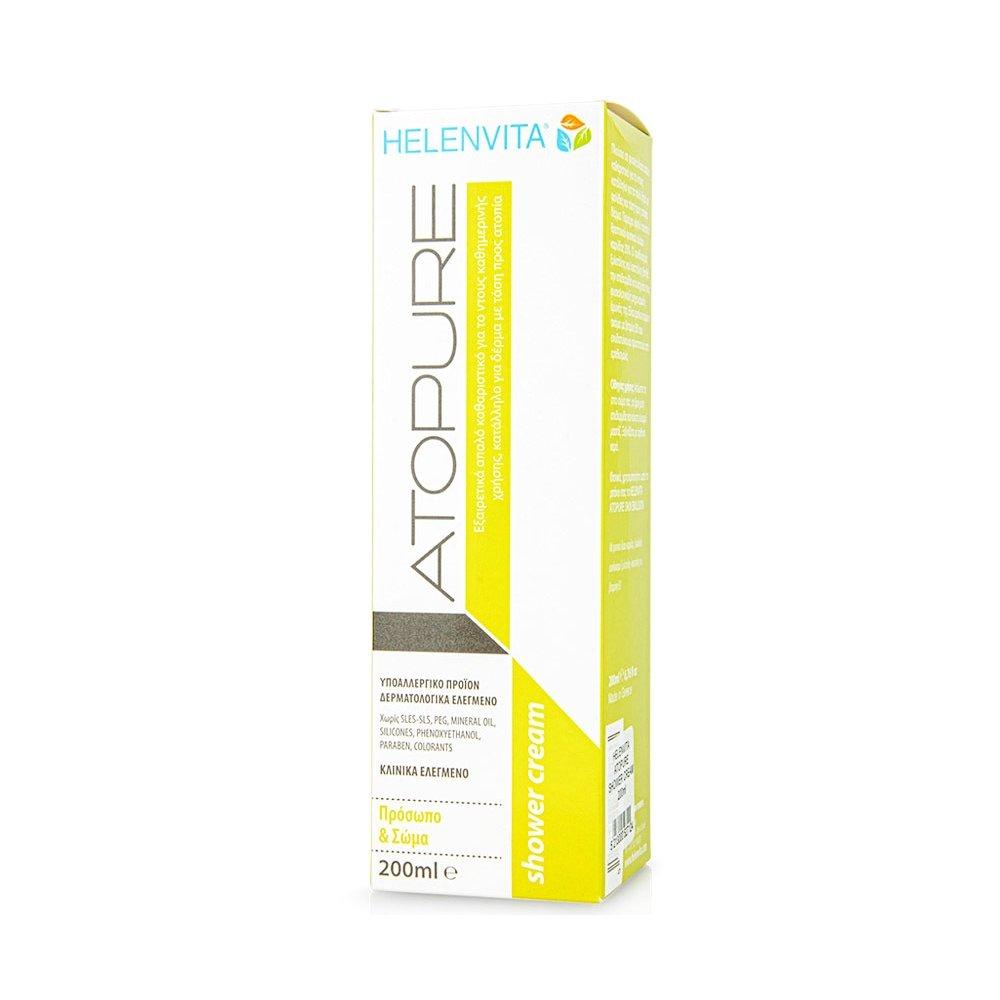 Helenvita Atopure Face & Body Καθαριστικό Καθημερινής Χρήσης Κατάλληλο για Δέρμα με Τάση προς Ατοπία 200ml
