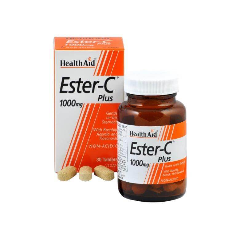 Health Aid Vitamin C Chewable 1000mg with Rosehip & Acerola Μασώμενες Βιταμίνες C Γεύση Πορτοκάλι 30tabs